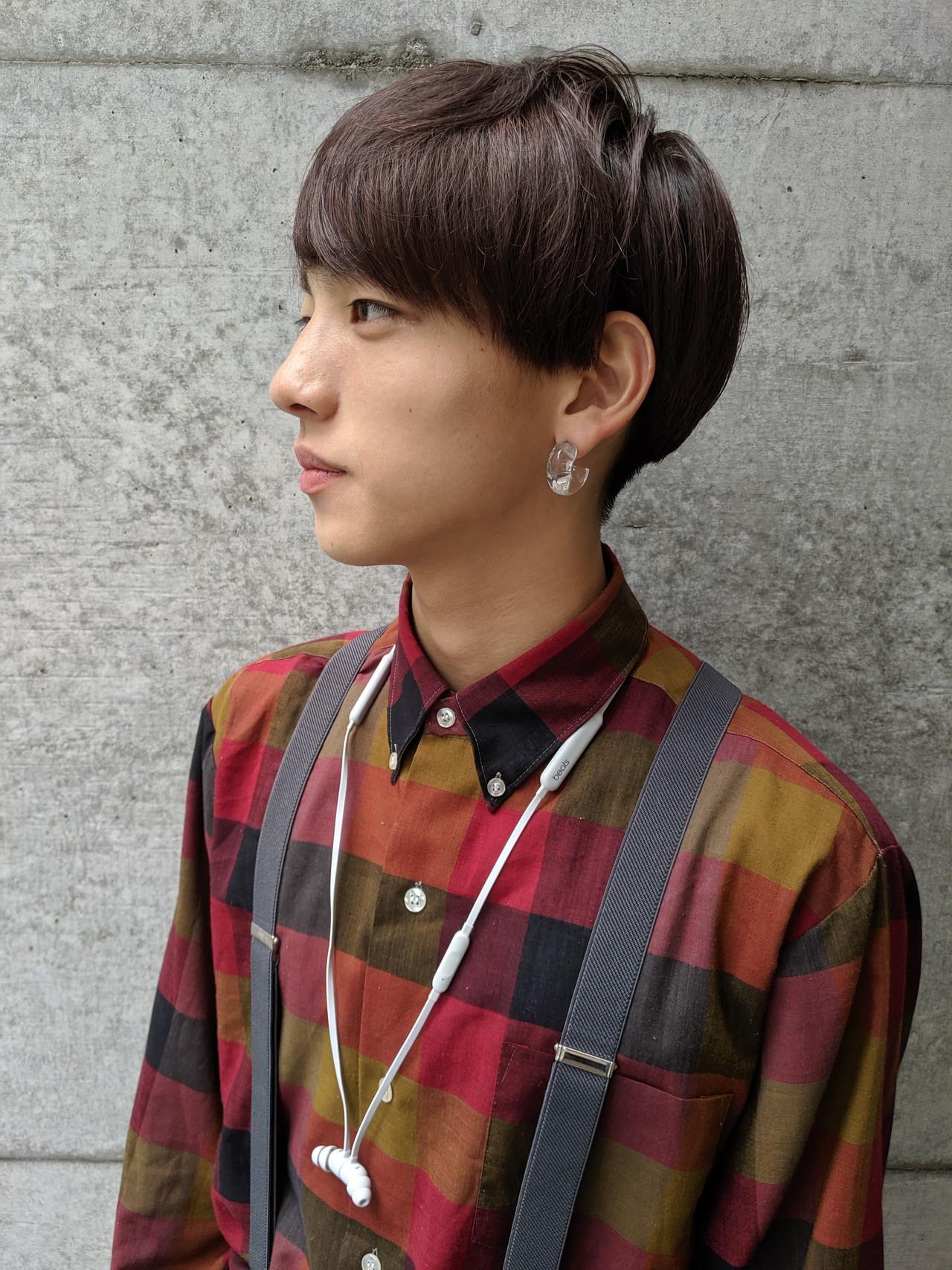 メンズの韓国風ヘアスタイル