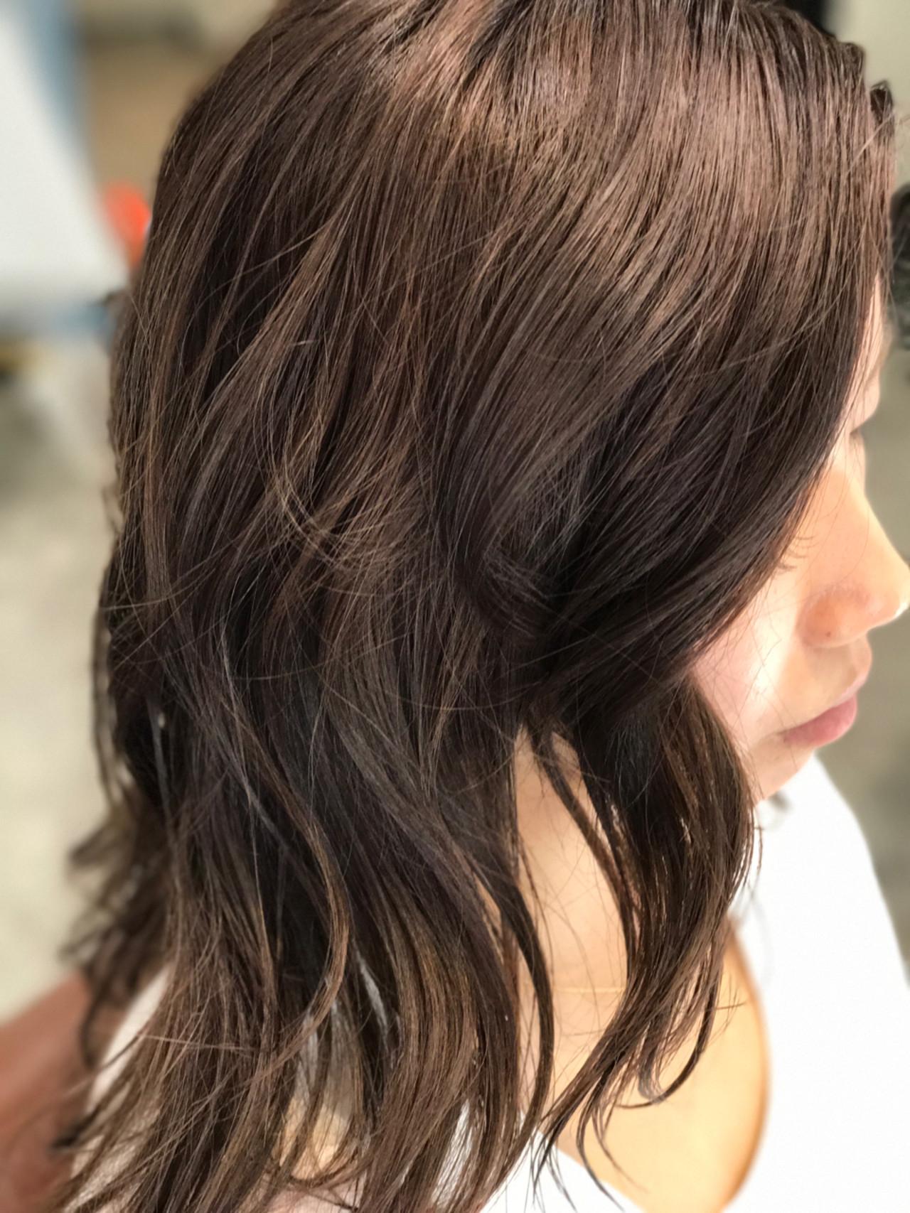 ナチュラル 透明感 ヘアアレンジ セミロング ヘアスタイルや髪型の写真・画像