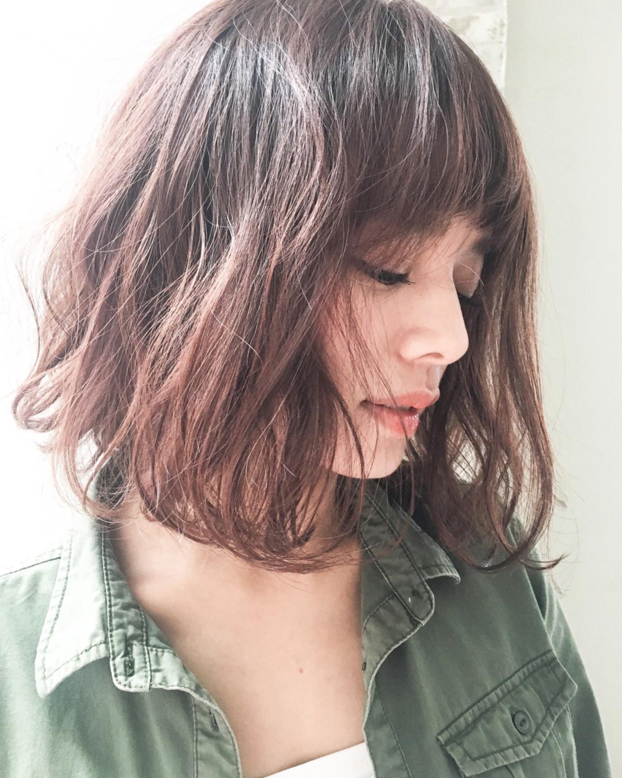 ボブ アッシュ ナチュラル パーマ ヘアスタイルや髪型の写真・画像 | 赤井希望 / joemibyUnami