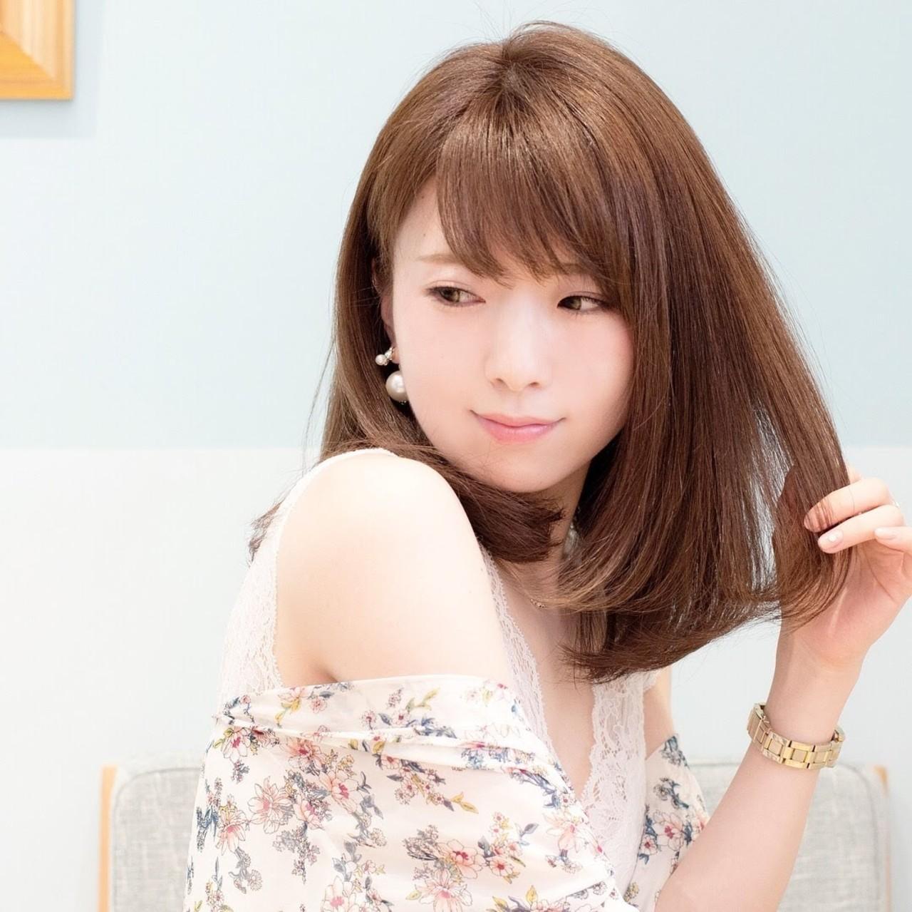 大人かわいい かわいい デート フェミニン ヘアスタイルや髪型の写真・画像 | 荒巻 充 / トライベッカ浦和店