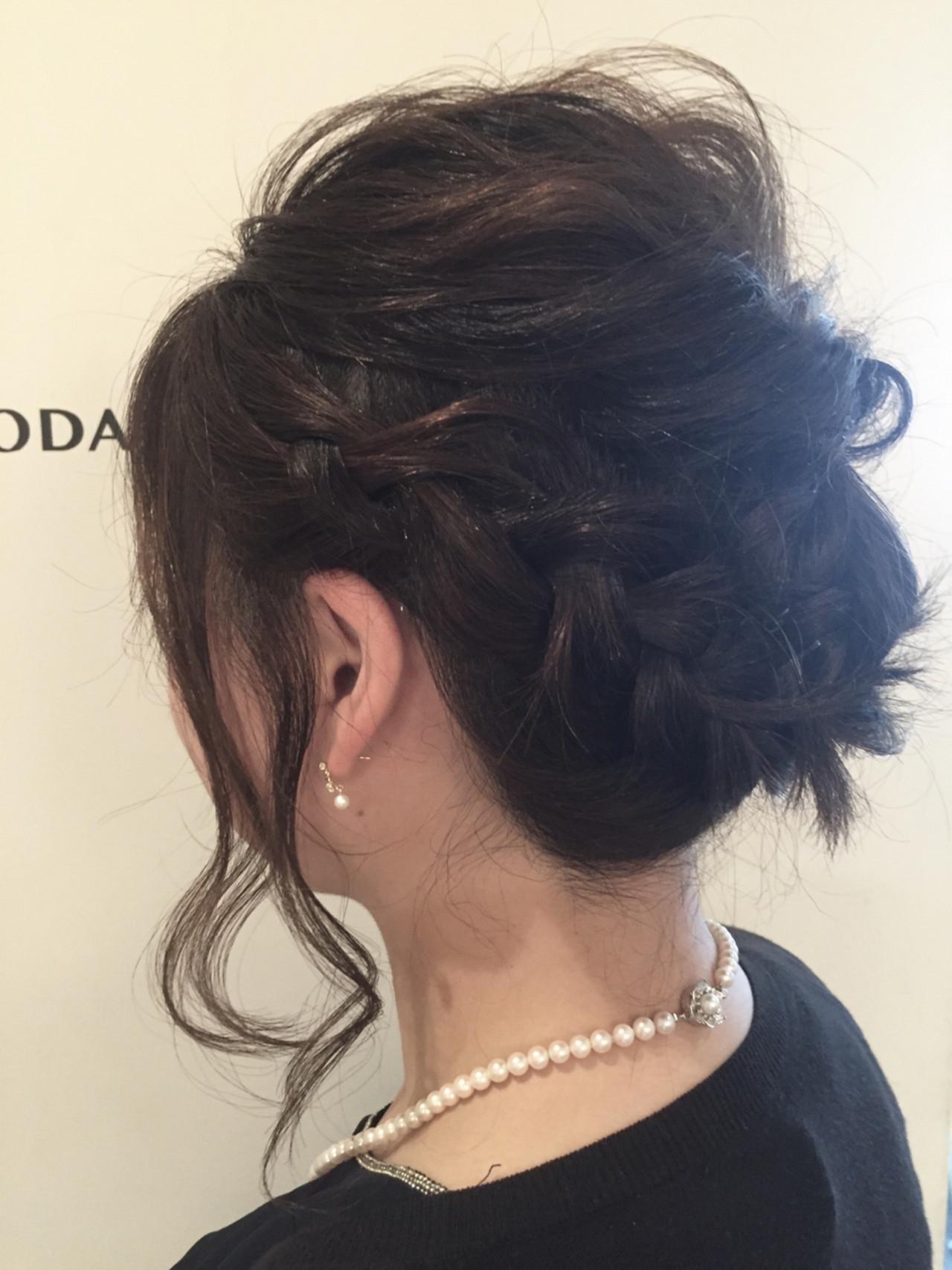 ゆるふわ 結婚式 ヘアアレンジ 簡単ヘアアレンジ ヘアスタイルや髪型の写真・画像 | ナベ / EIGHT hair salon