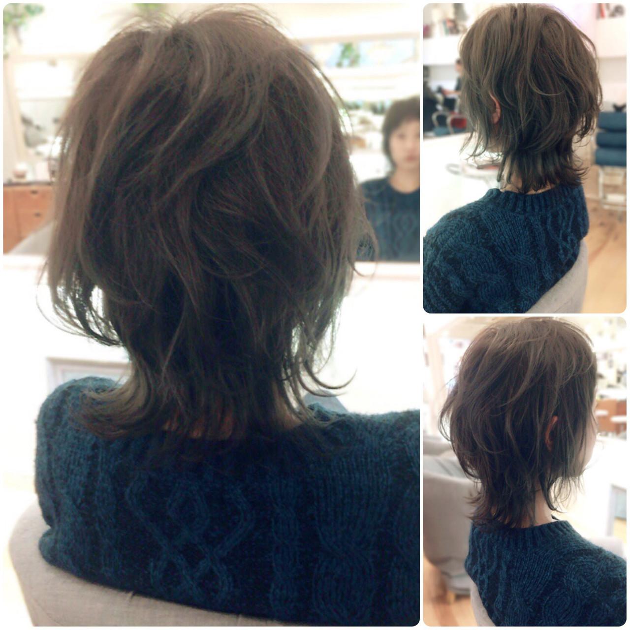 マッシュ ミディアム ウルフカット ストリート ヘアスタイルや髪型の写真・画像 | イマムラ スナオ / LUKE