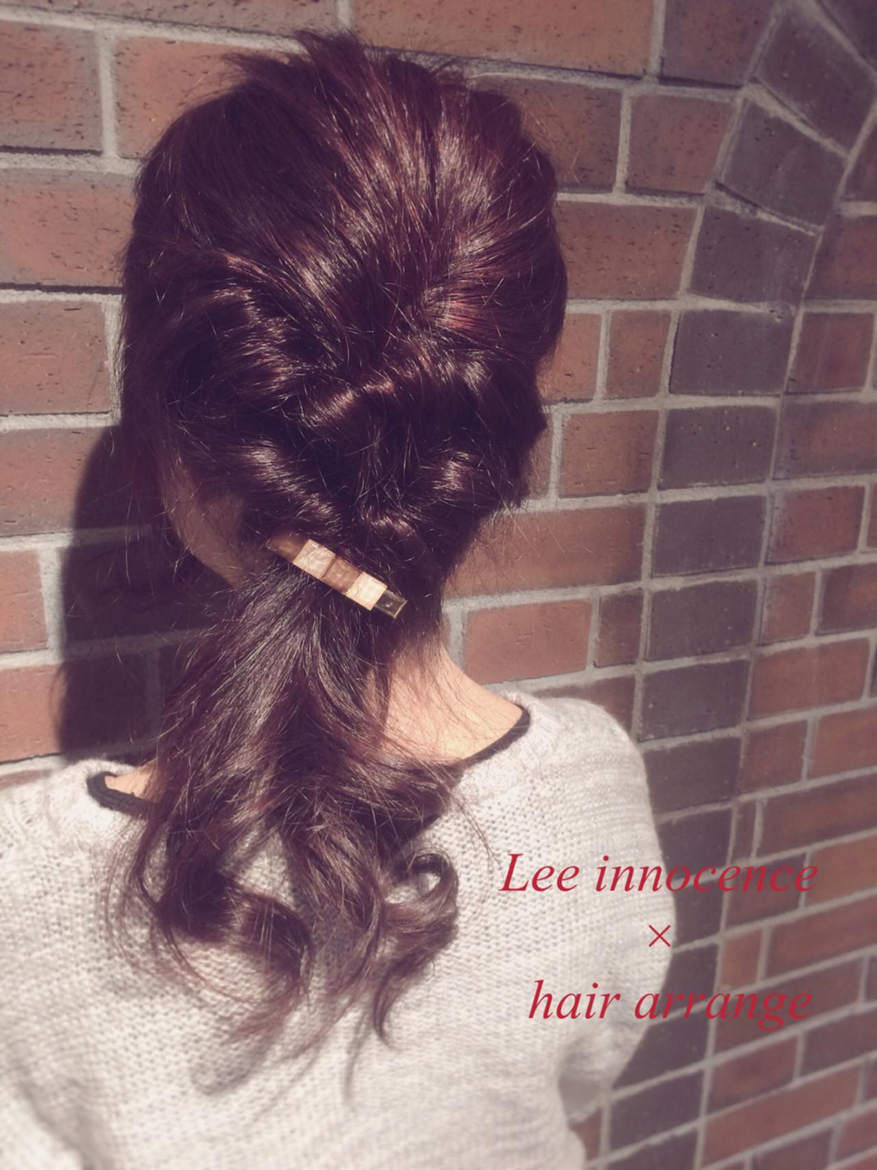 大人かわいい パーティ ヘアアレンジ 簡単ヘアアレンジ ヘアスタイルや髪型の写真・画像   Lee innocence 宮本伸一(shin) / Lee innocence 西宮北口店