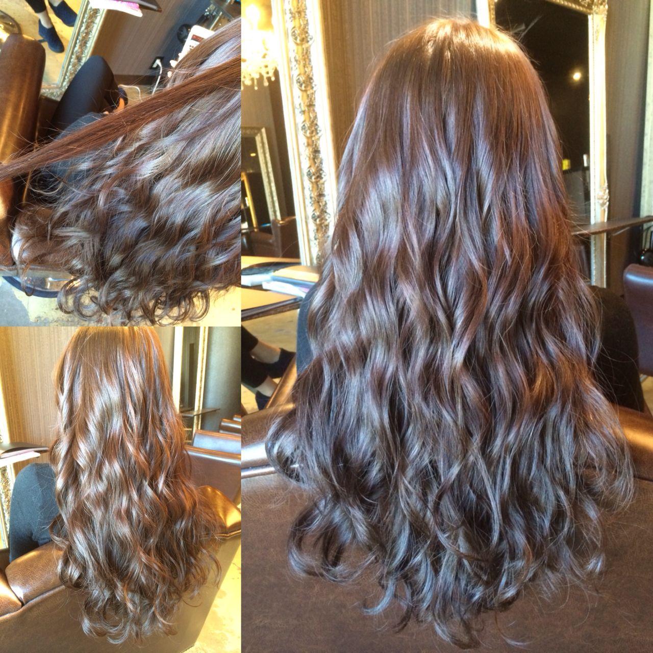暗髪 ウェーブ ストリート モード ヘアスタイルや髪型の写真・画像
