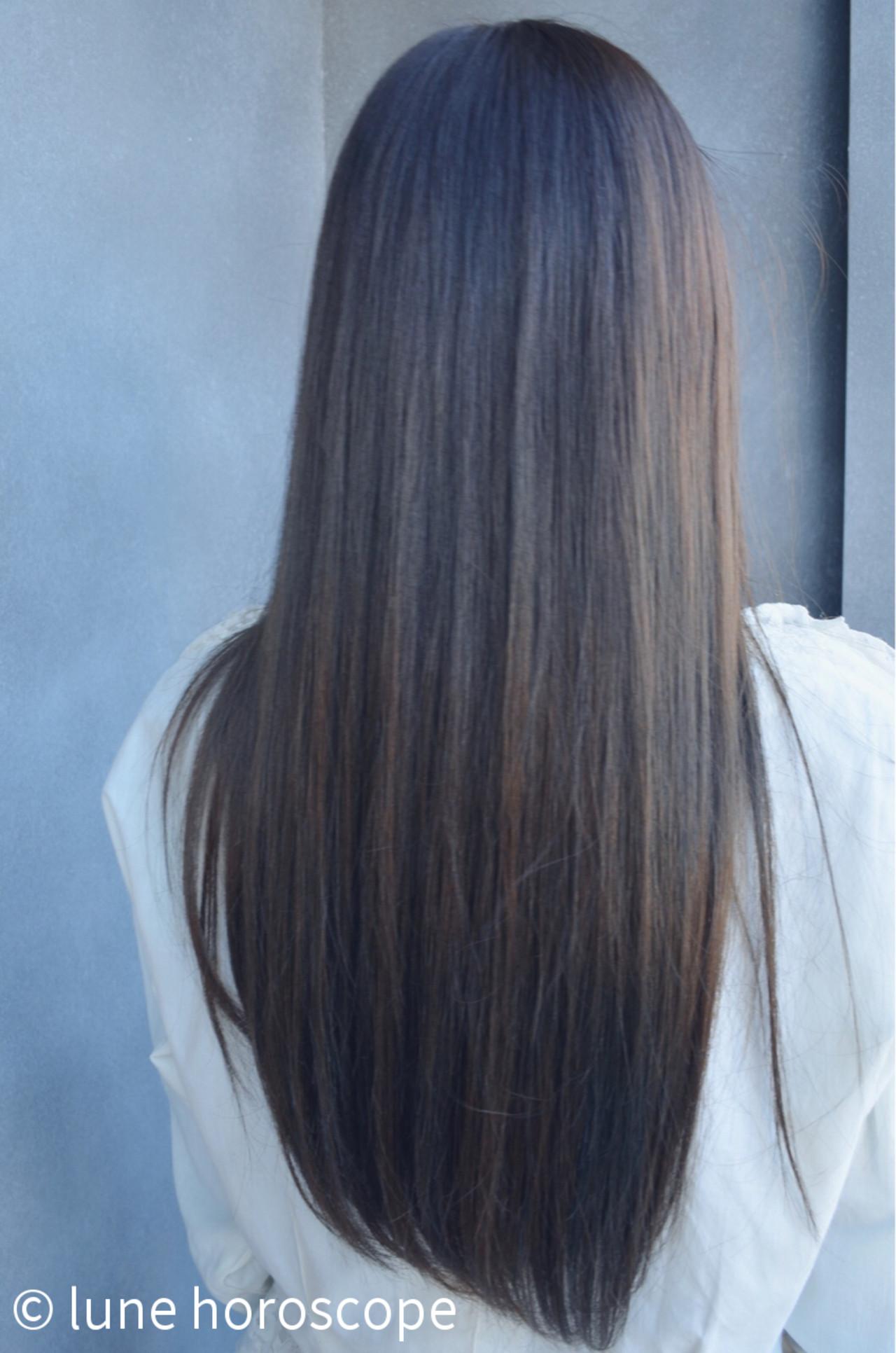ナチュラル アッシュ モテ髪 暗髪 ヘアスタイルや髪型の写真・画像