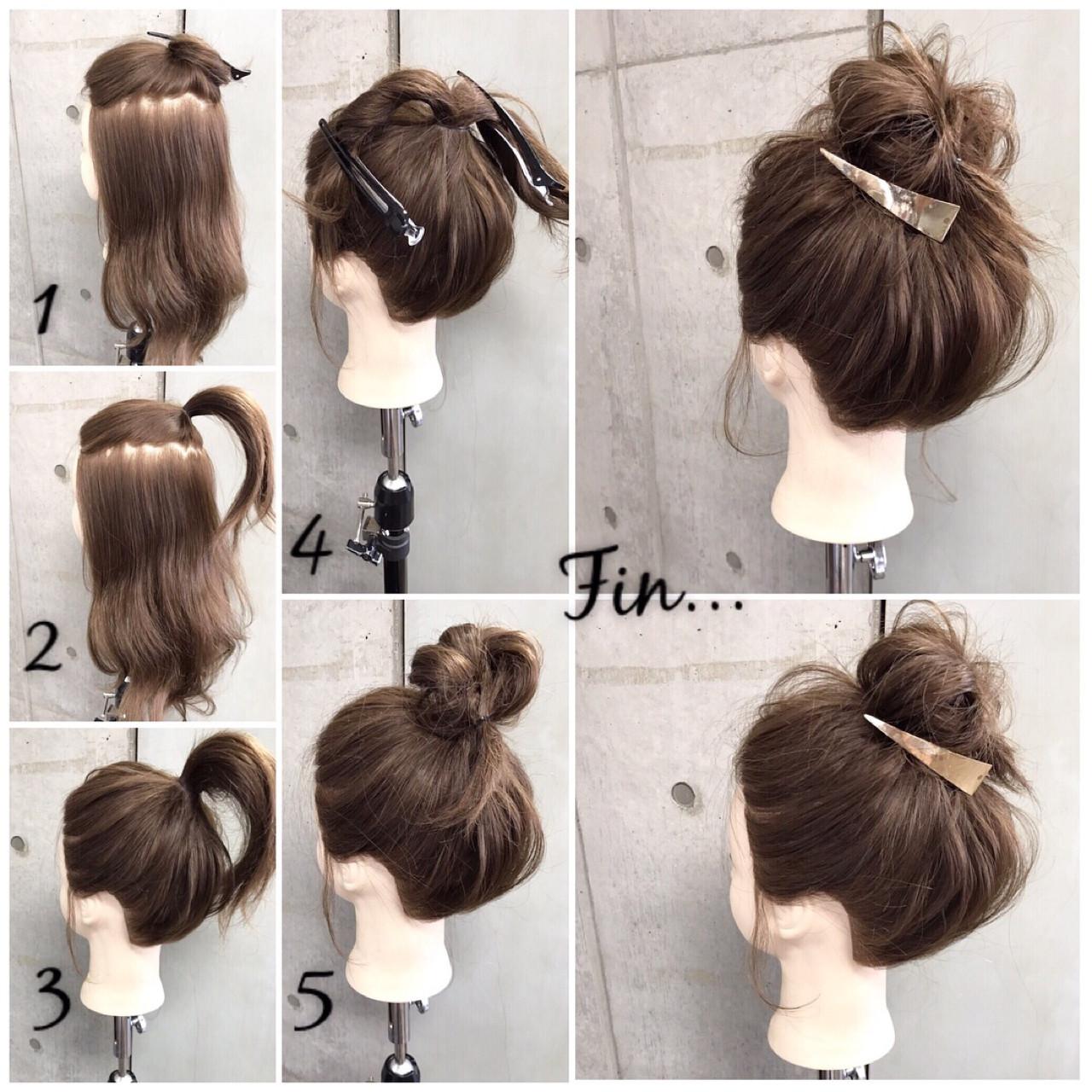 女子会 ヘアアレンジ セミロング 涼しげ ヘアスタイルや髪型の写真・画像