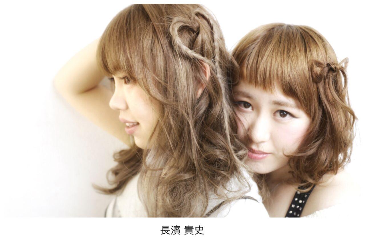 ロング ショート フェミニン 愛され ヘアスタイルや髪型の写真・画像 | 長濱 貴史 / Orange*