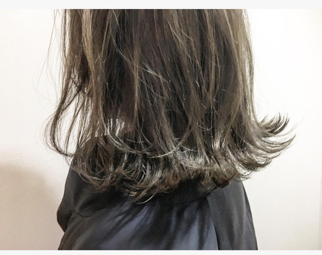 ボブ 切りっぱなし 外ハネ ハイライト ヘアスタイルや髪型の写真・画像 | 廣長 毅 / Lull/ vampdiva