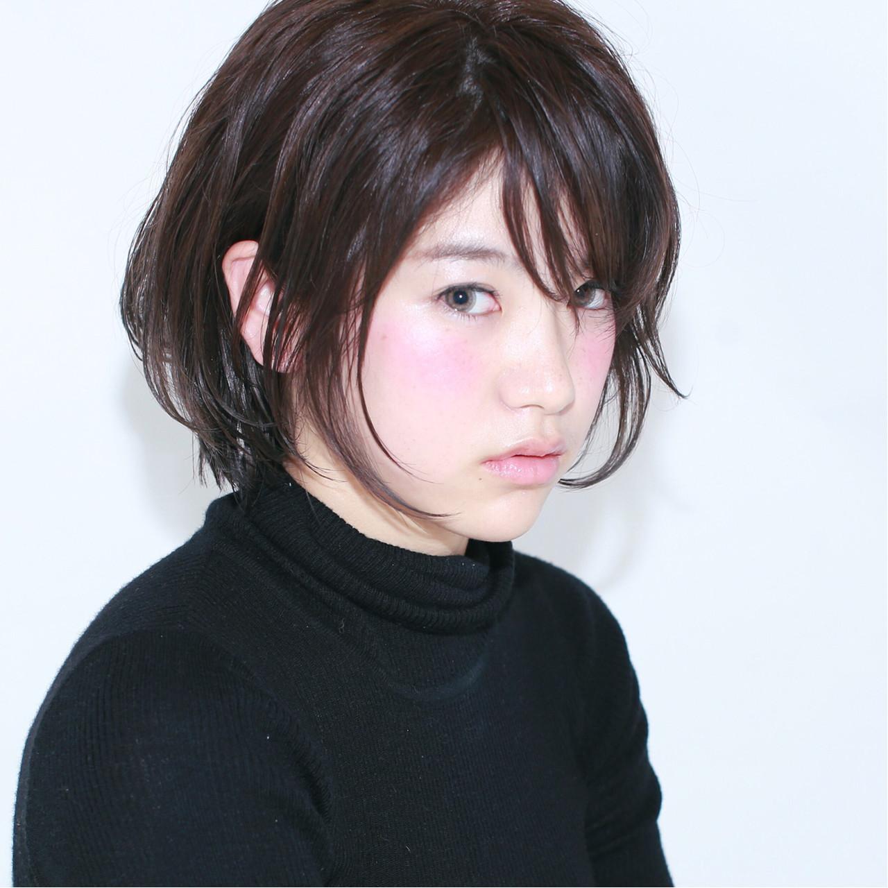 アッシュ ナチュラル ショートボブ 黒髪 ヘアスタイルや髪型の写真・画像 | イマムラ スナオ / LUKE