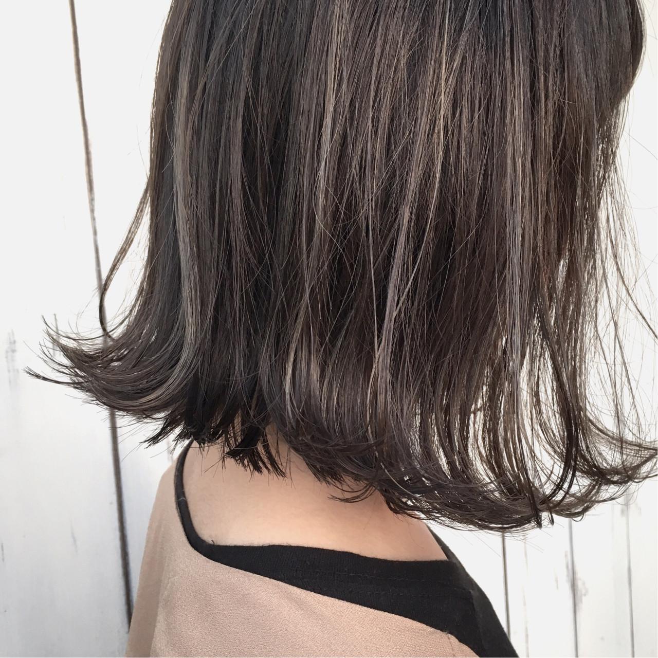 抜け感 ナチュラル ボブ 切りっぱなし ヘアスタイルや髪型の写真・画像 | masamitsu minegishi峯岸 政光 / CLOCKLESS hair design