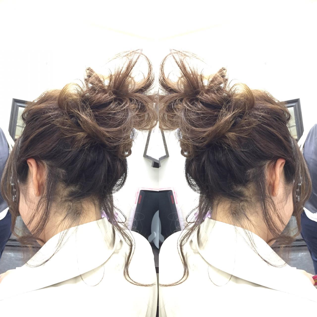 結婚式 セミロング かわいい ゆるふわ ヘアスタイルや髪型の写真・画像