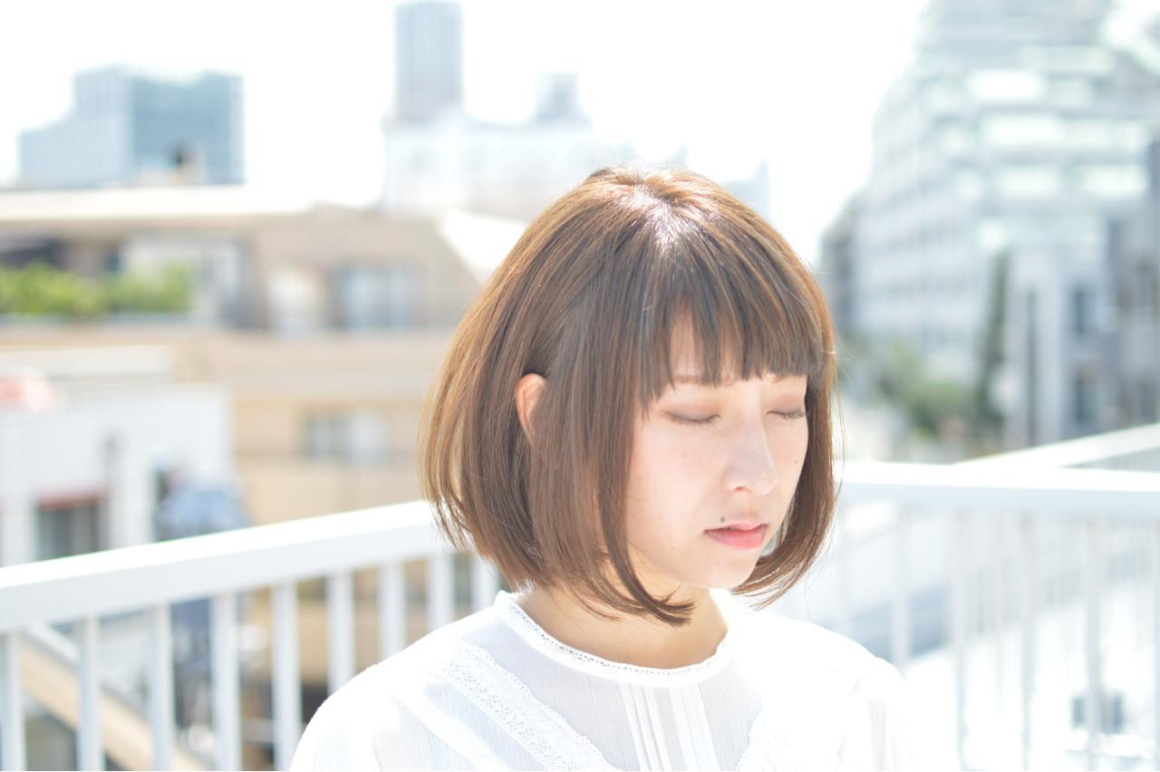 ナチュラル 秋 ハイライト ボブ ヘアスタイルや髪型の写真・画像 | 保坂 宏 / Her hair salon