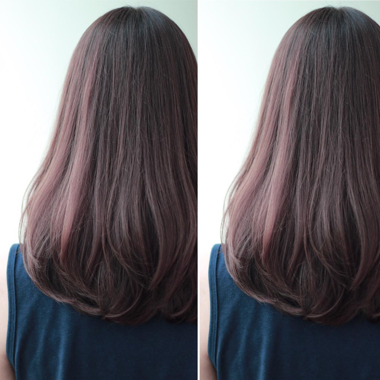 ゆるふわ ロング グラデーションカラー 暗髪 ヘアスタイルや髪型の写真・画像