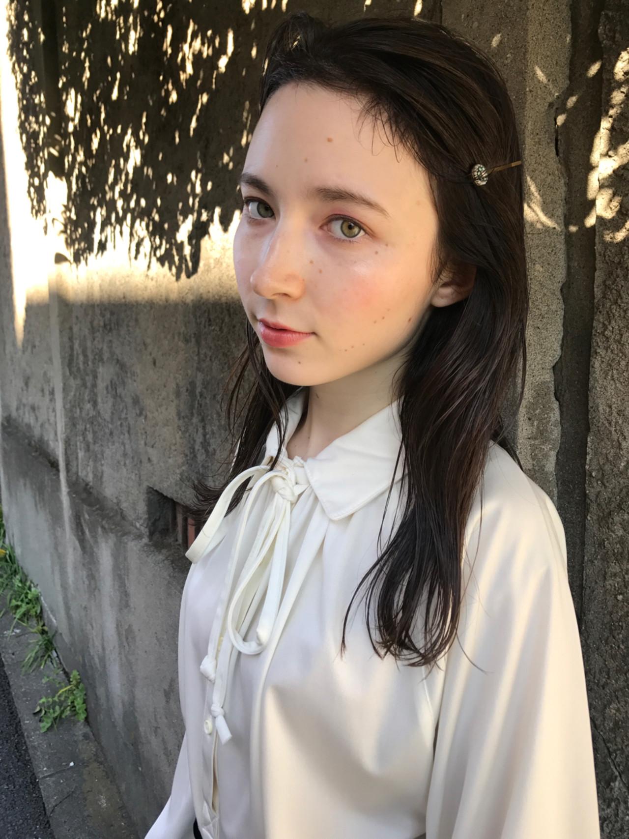 抜け感 色気 結婚式 セミロング ヘアスタイルや髪型の写真・画像 | 小西敬二郎 / Heartim