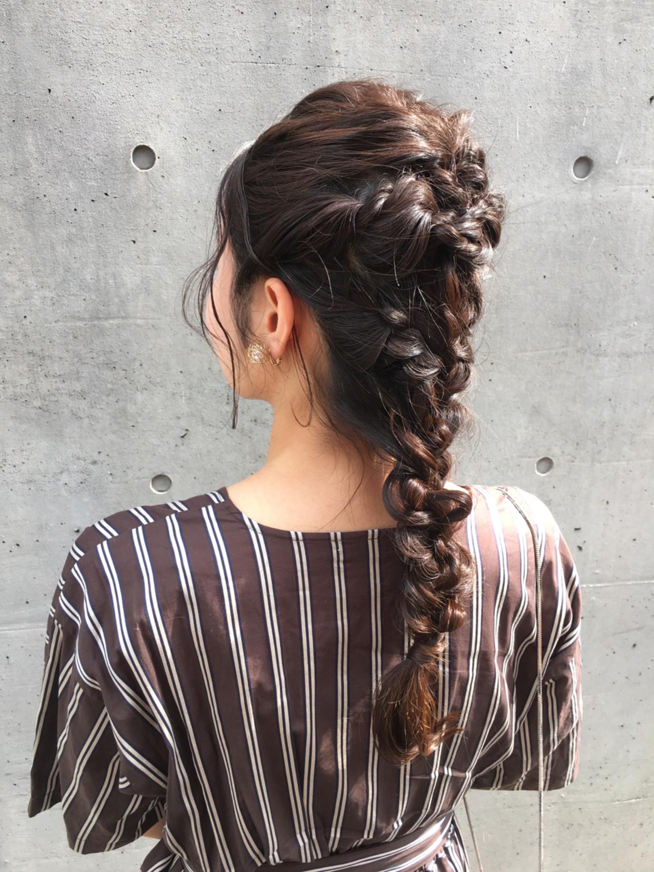デート ロング 大人かわいい 結婚式 ヘアスタイルや髪型の写真・画像 | ade omotesando YUKA / ade omotesando