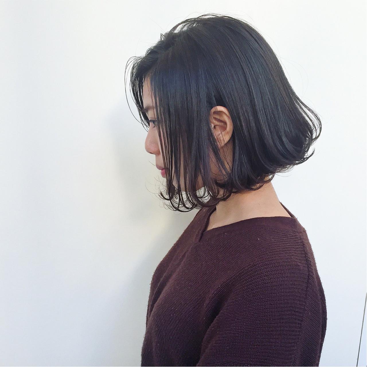 外国人風 アッシュ ボブ ハイライト ヘアスタイルや髪型の写真・画像