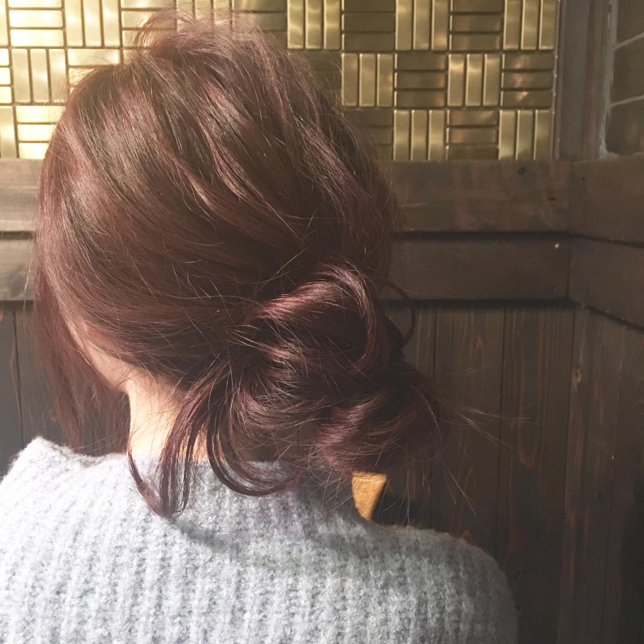 ショート ヘアアレンジ 簡単ヘアアレンジ 暗髪 ヘアスタイルや髪型の写真・画像 | hiroki / hair latelier emma