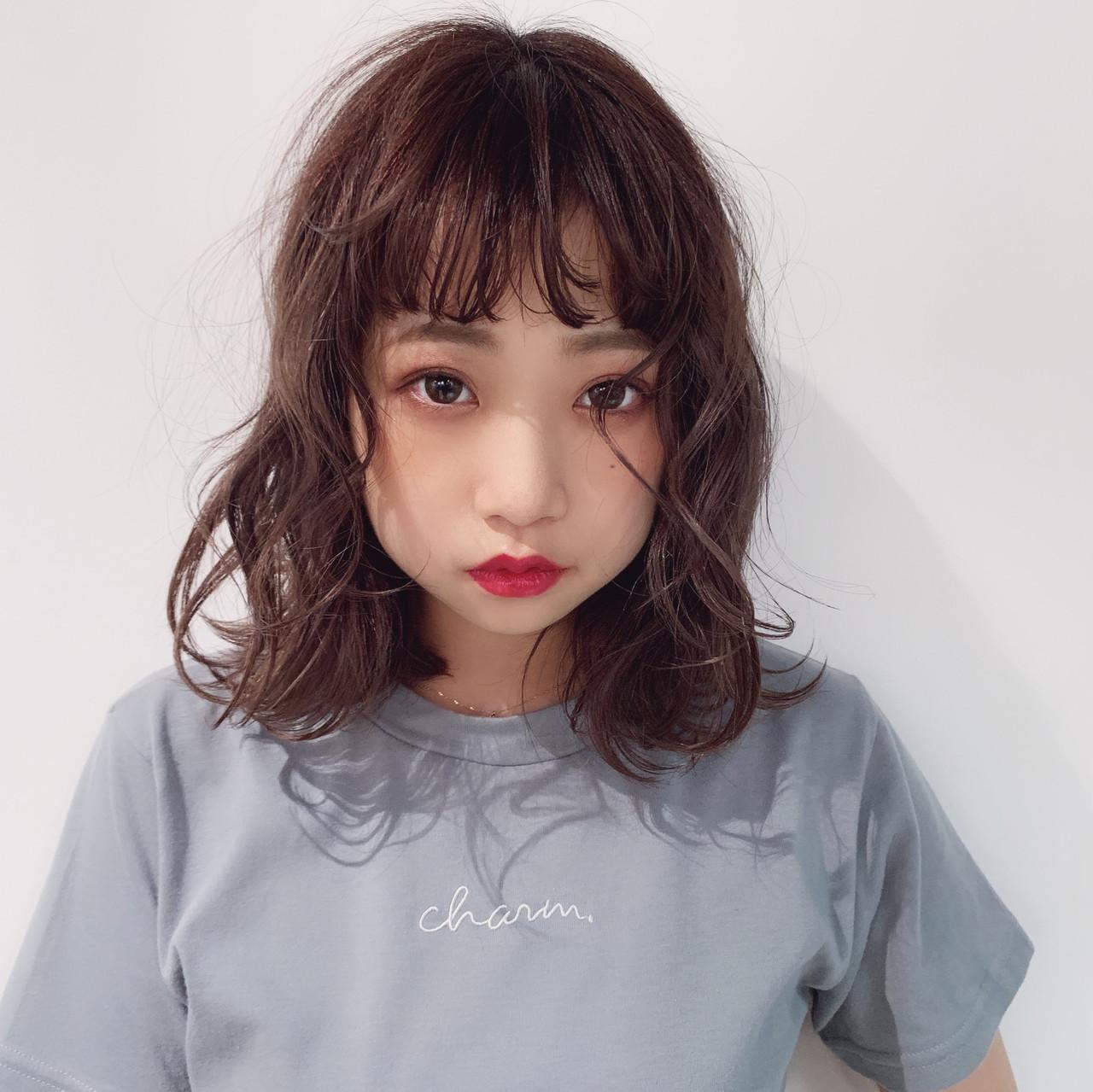 外国人風カラー 透明感カラー ミディアム ナチュラル ヘアスタイルや髪型の写真・画像   中村明俊 / AUBE hair