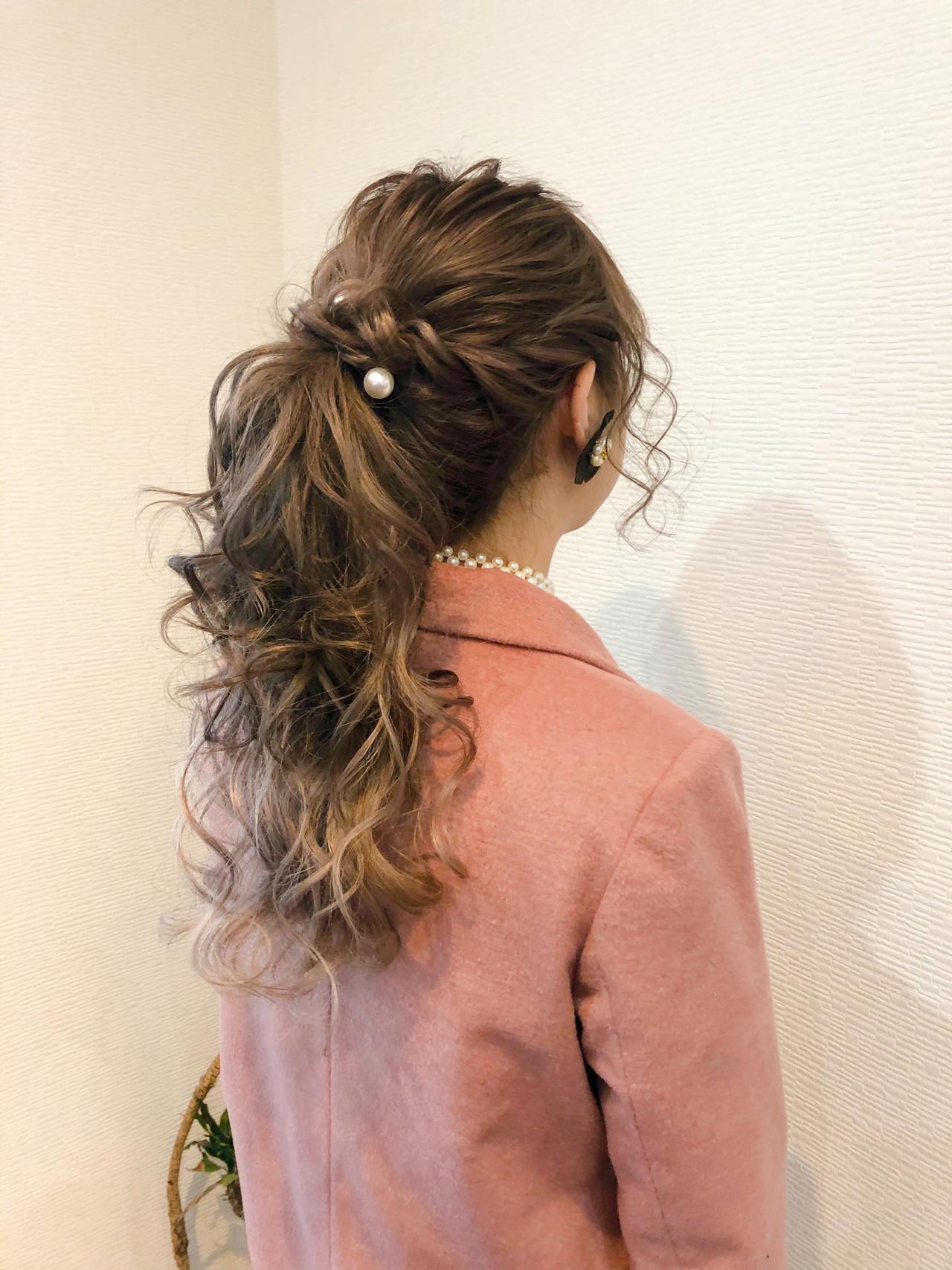 フェミニン ロング ブライダル ヘアセット ヘアスタイルや髪型の写真・画像 | mai / HAIR SALON STELLA