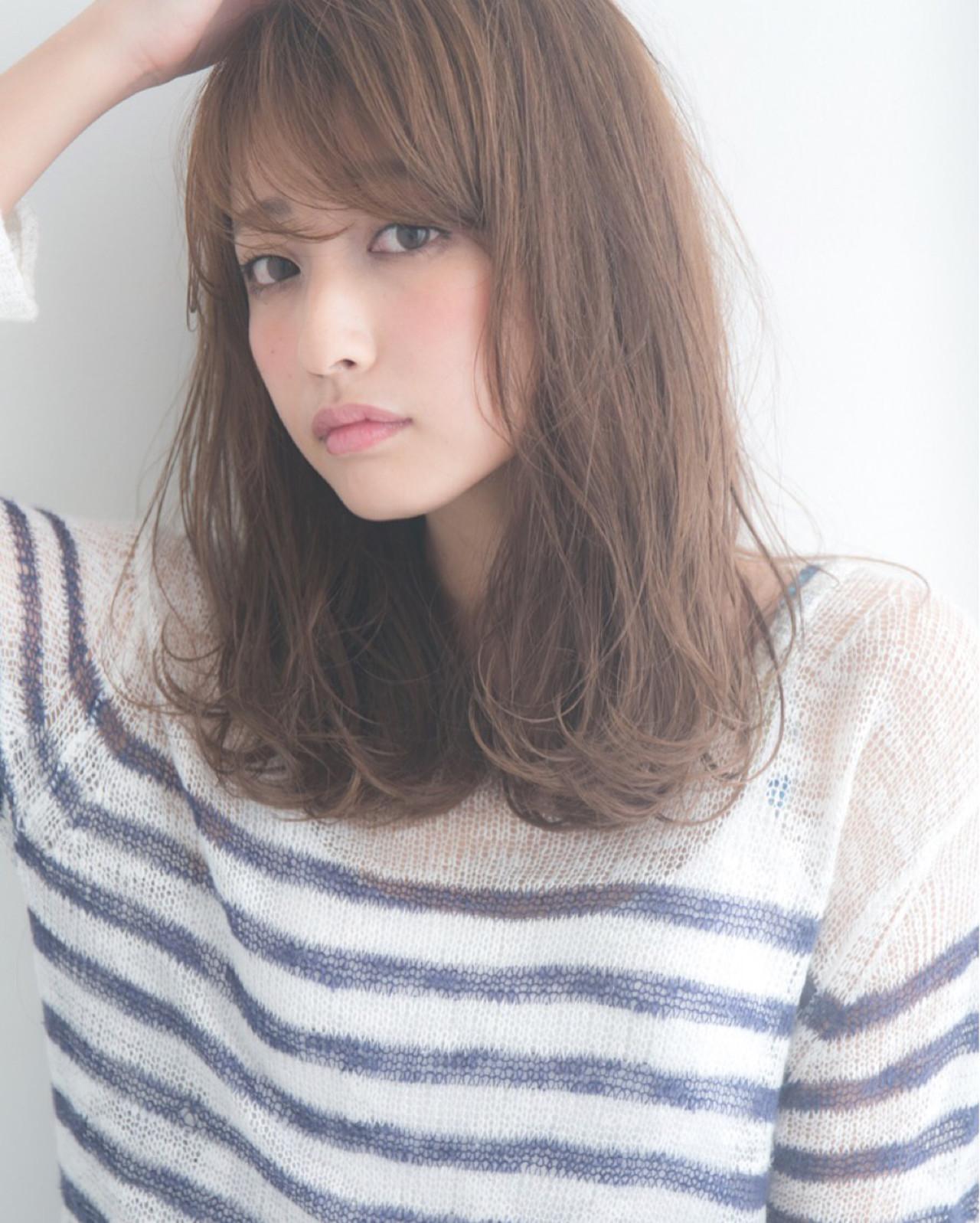 フェミニン ミディアム 透明感 ヘアスタイルや髪型の写真・画像 | 大隣 正佳 / GARDEN HARAJUKU