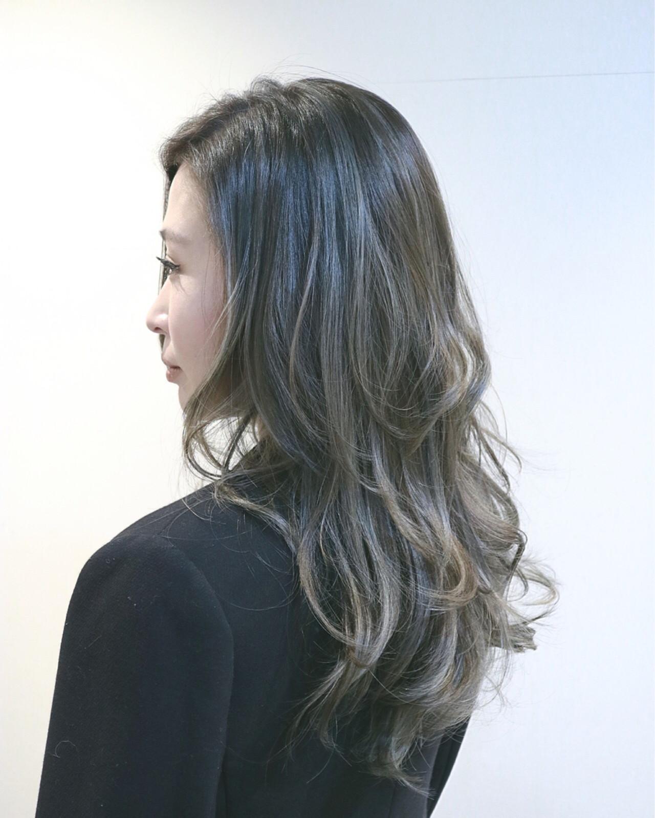 アッシュ ハイライト ナチュラル 外国人風 ヘアスタイルや髪型の写真・画像 | RUMINA //高田ゆみこ / Rumina