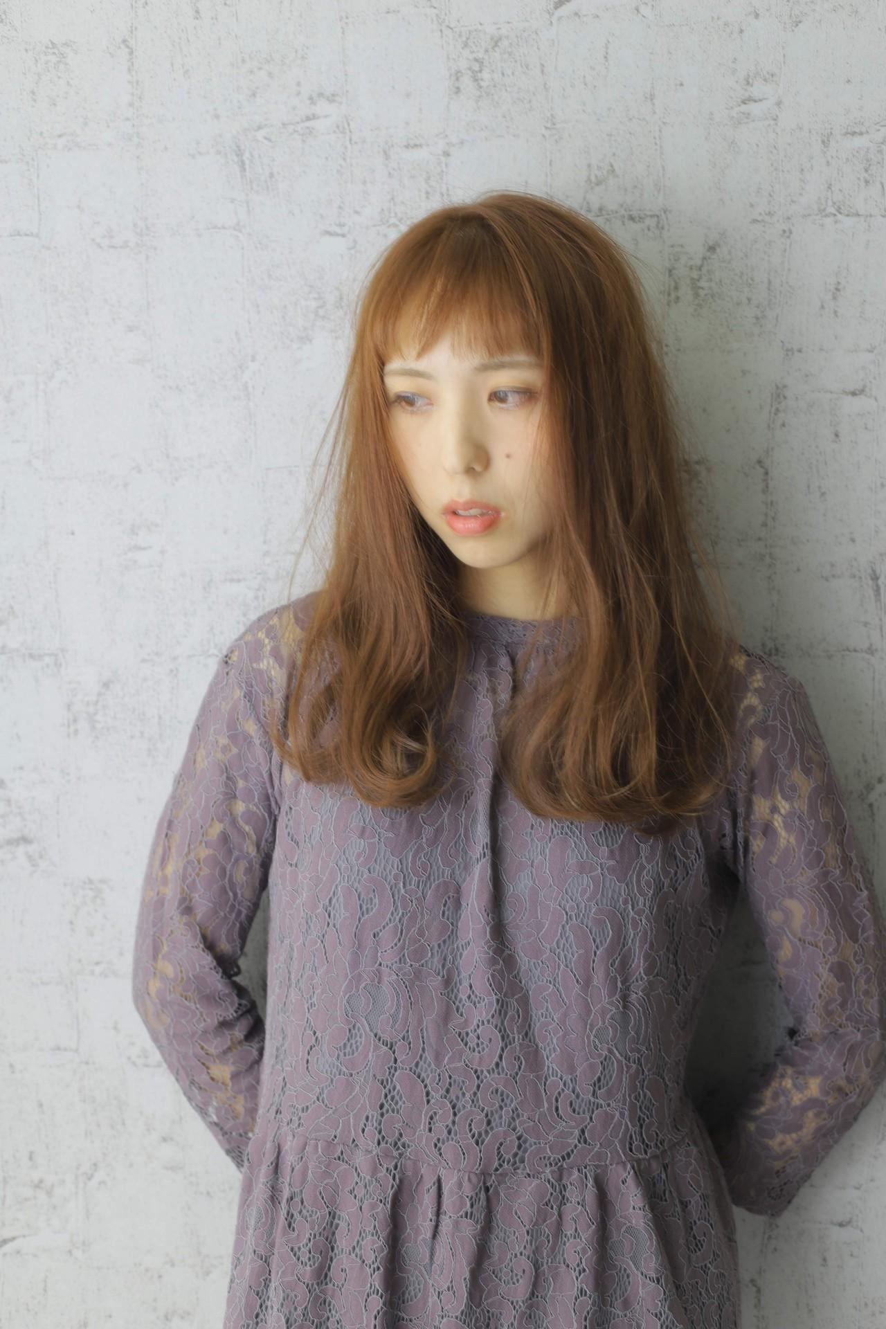 大人女子 ナチュラル ブラウン ワンカール ヘアスタイルや髪型の写真・画像