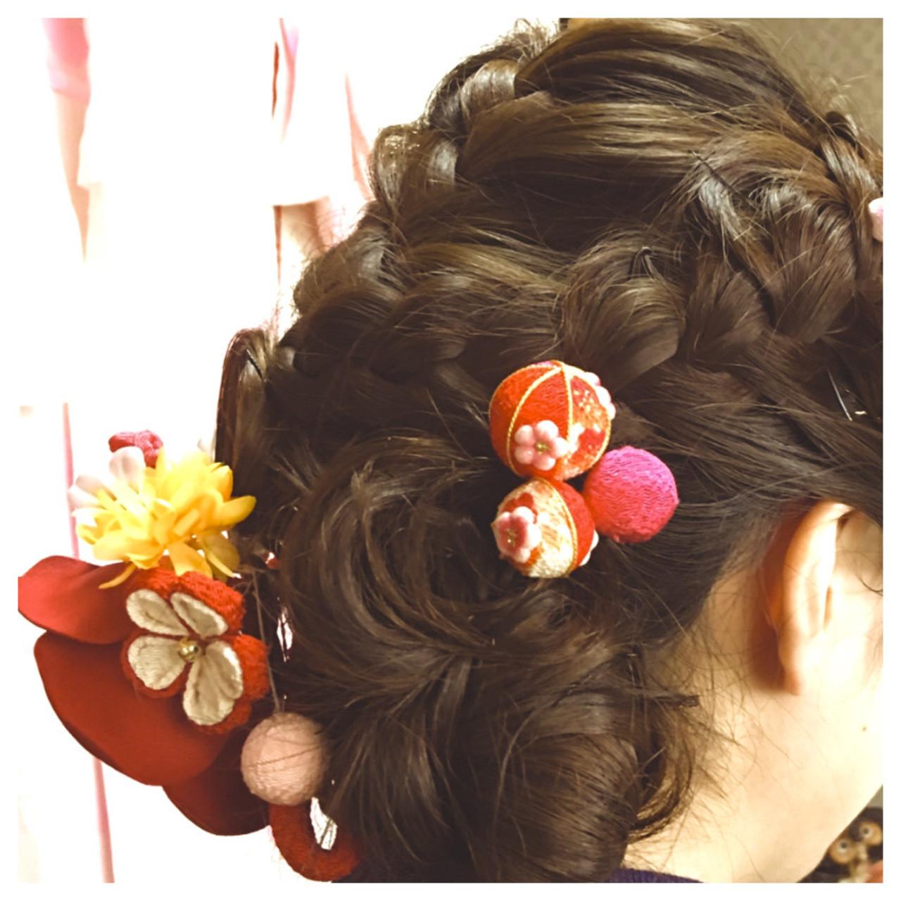 和装 卒業式 ロング 成人式 ヘアスタイルや髪型の写真・画像 | okunaka / wabisabi~和美咲魅~