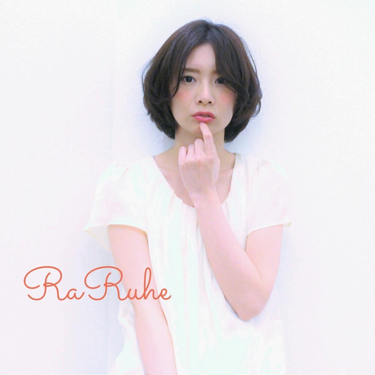 ショート ナチュラル ショートボブ ゆるふわ ヘアスタイルや髪型の写真・画像 | RaRuhe 岡部千尋 / RaRuhe