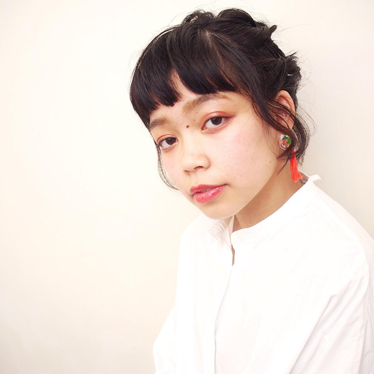 ヘアアレンジ デート 女子会 ガーリー ヘアスタイルや髪型の写真・画像