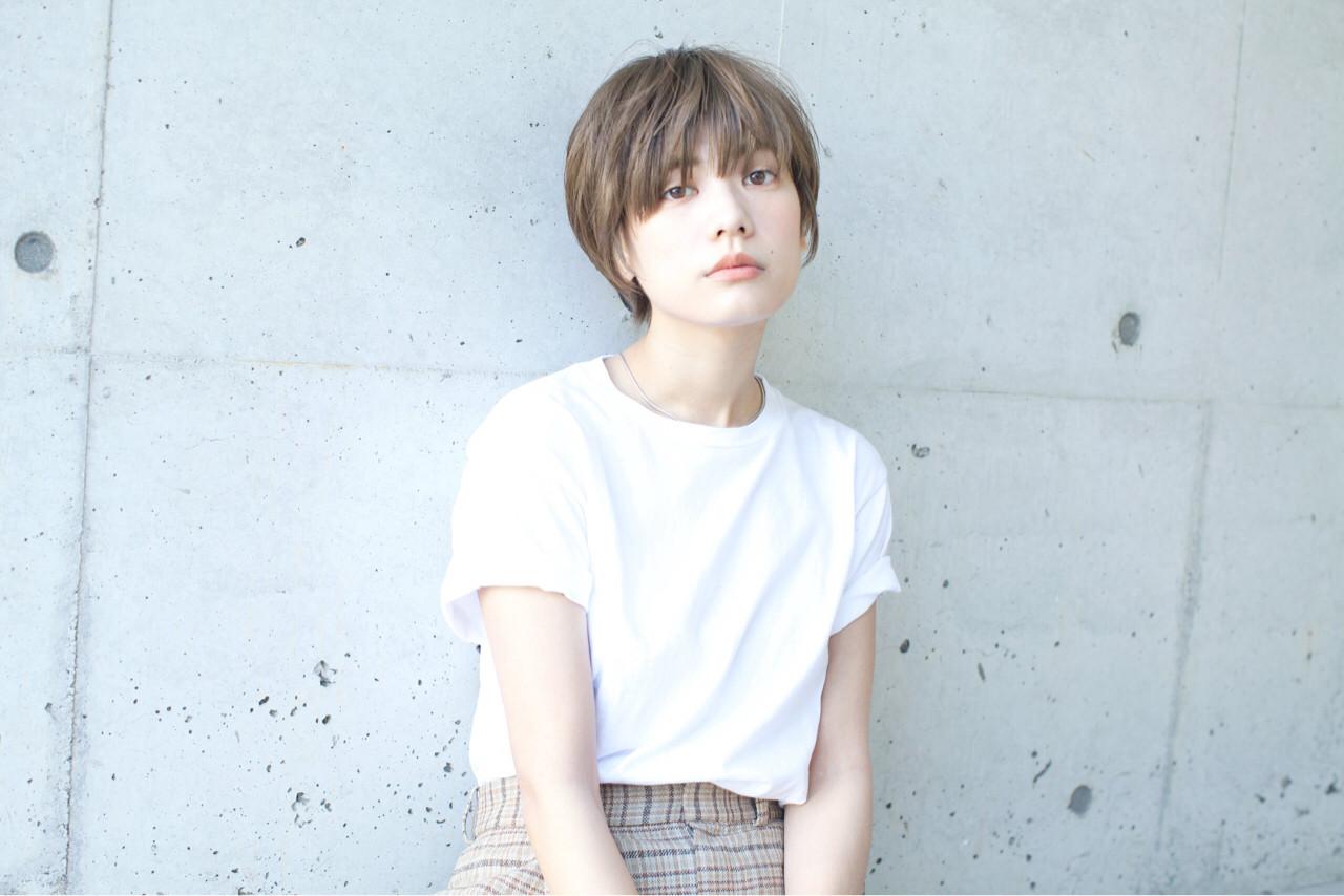 ナチュラル ショート 抜け感 大人かわいい ヘアスタイルや髪型の写真・画像   石川 瑠利子 /