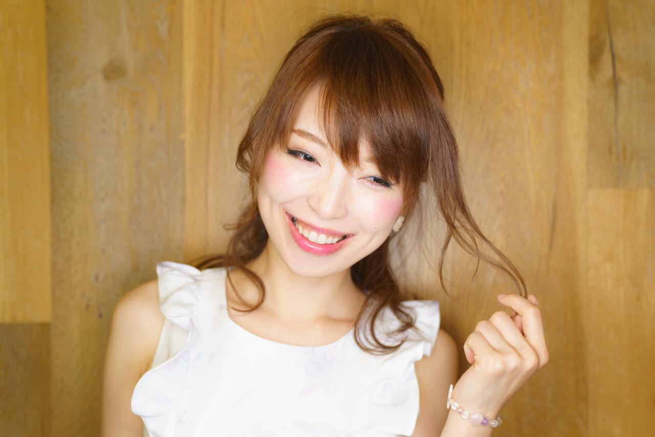 ハーフアップ コンサバ セミロング フェミニン ヘアスタイルや髪型の写真・画像 | ATSUKI MATSUMOTO / nonoi..