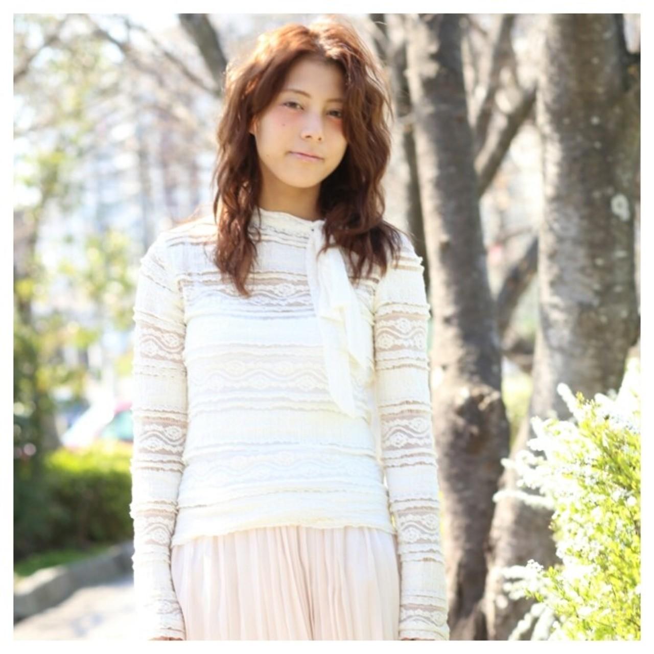外国人風 大人かわいい ゆるふわ ガーリー ヘアスタイルや髪型の写真・画像 | 福山 耕介 / CuthouseBen