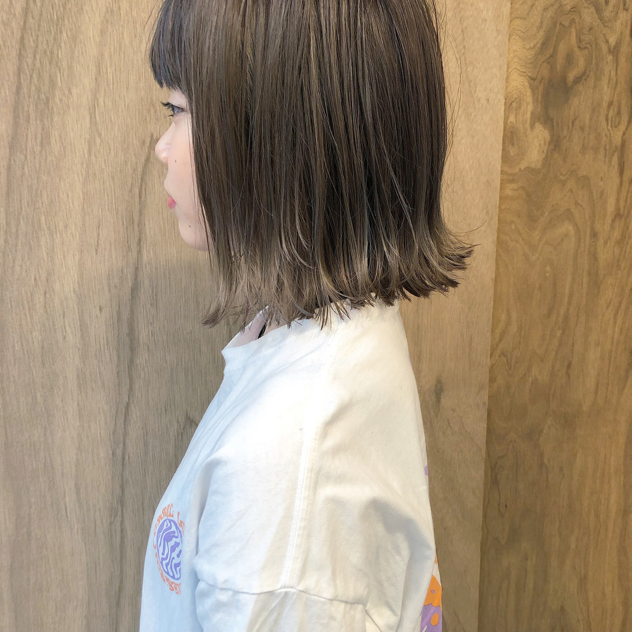 ミニボブ ボブ ナチュラル 切りっぱなしボブ ヘアスタイルや髪型の写真・画像 | 松井勇樹 / TWiGGY  歩行町店