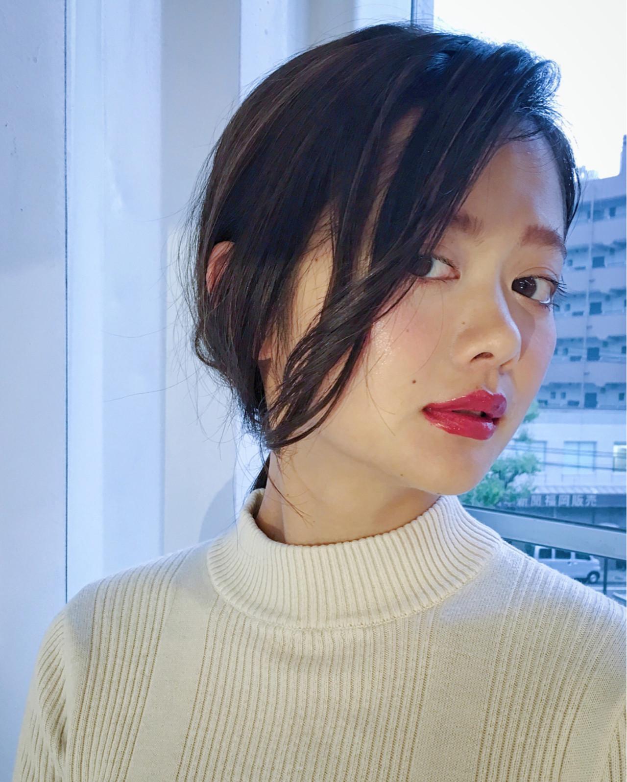 デート モード リラックス 簡単ヘアアレンジ ヘアスタイルや髪型の写真・画像