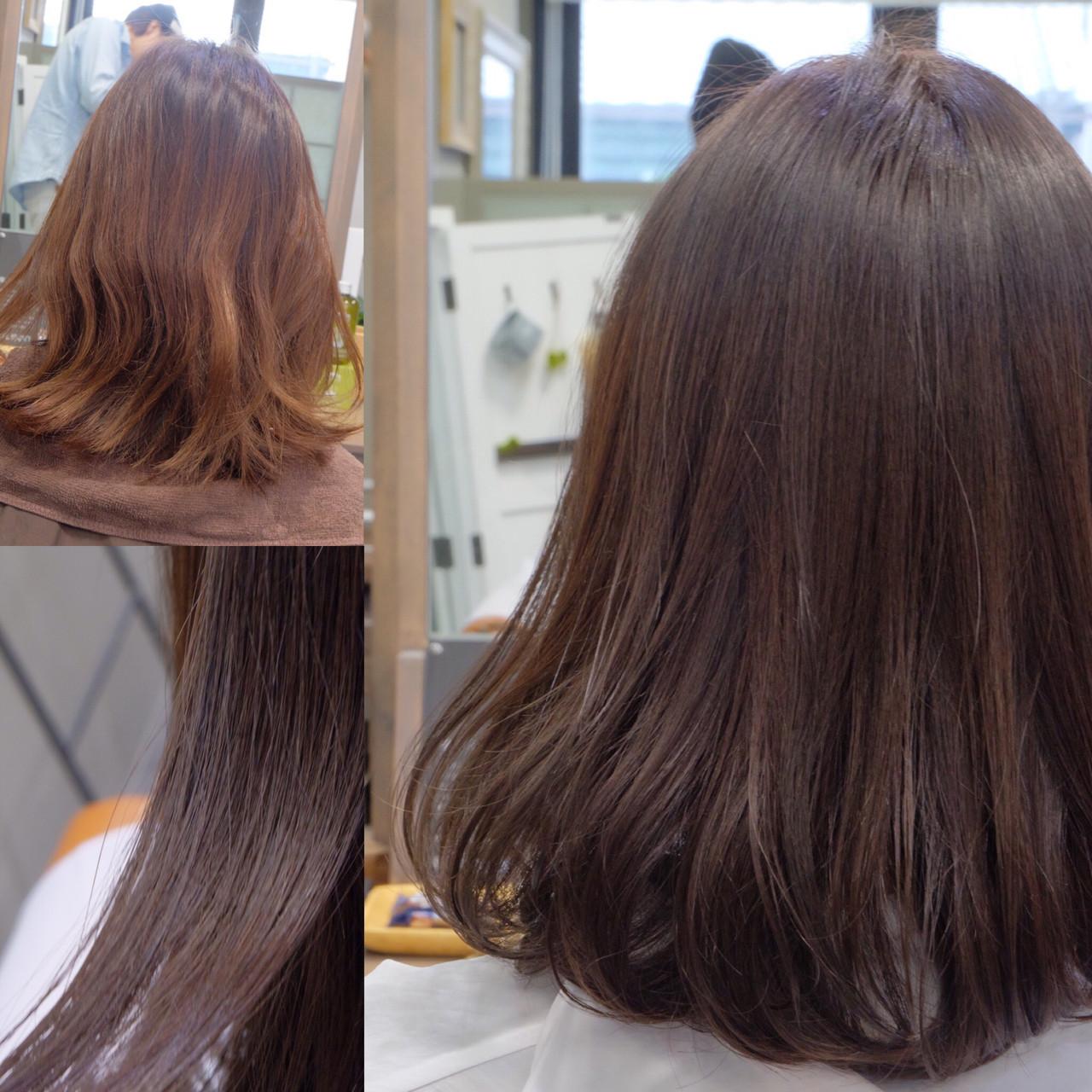 ミルクティー 大人女子 ミディアム こなれ感 ヘアスタイルや髪型の写真・画像