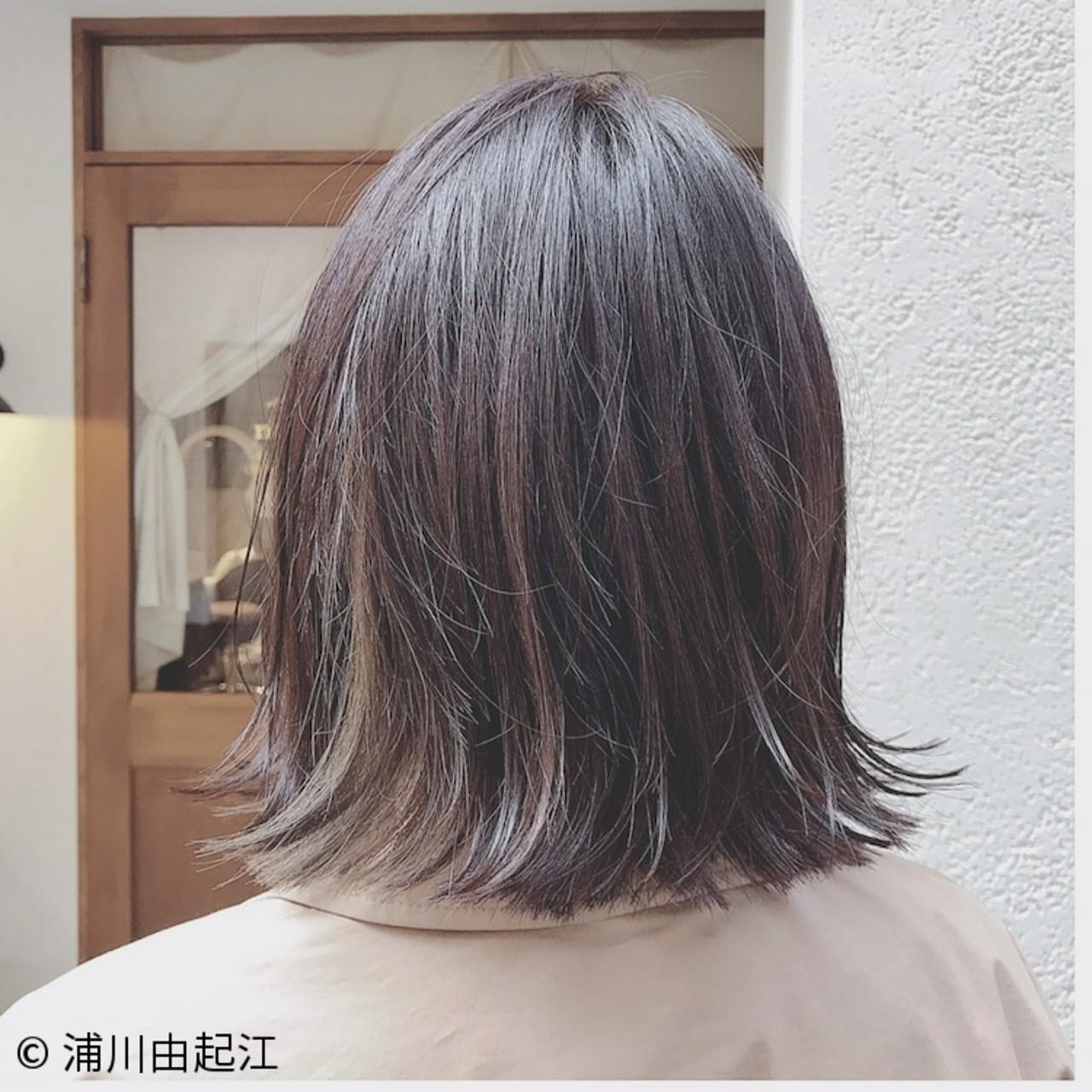 ナチュラル インナーカラー ゆるふわ 大人かわいい ヘアスタイルや髪型の写真・画像