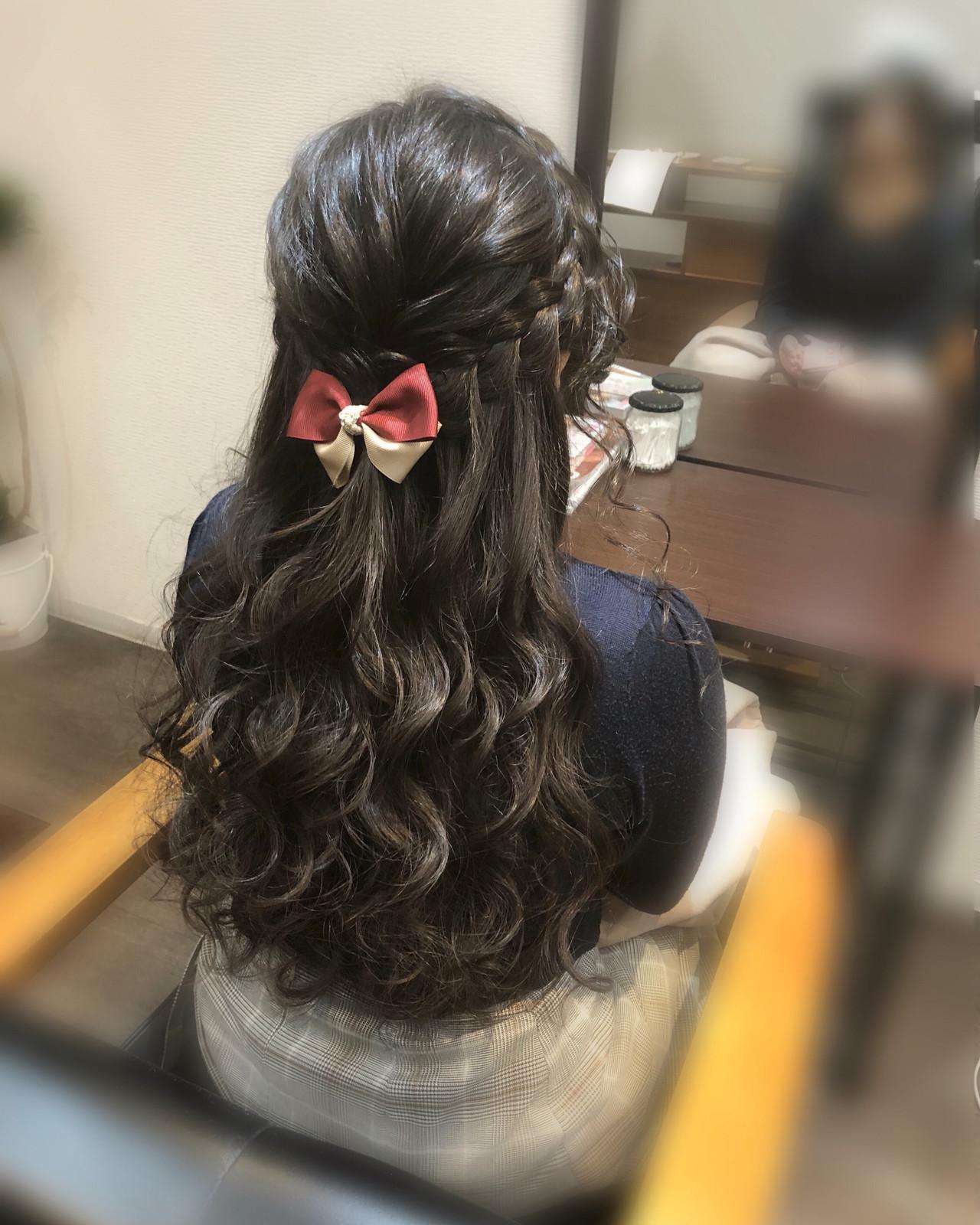 編み込みヘア ヘアアレンジ ロング ヘアセット ヘアスタイルや髪型の写真・画像