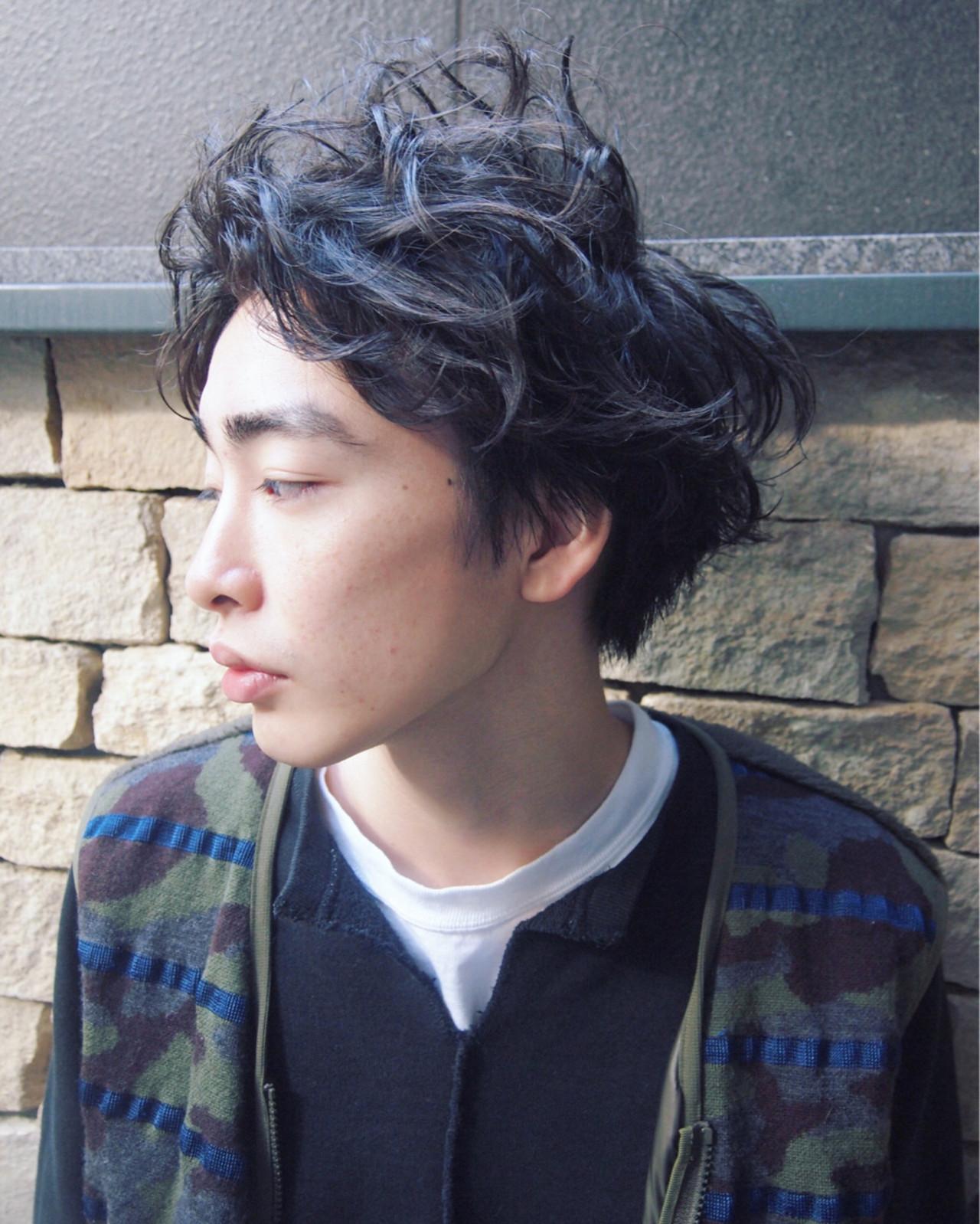 ストリート 黒髪 モテ髪 無造作 ヘアスタイルや髪型の写真・画像 | UEKI/nanuk / nanuk二子玉川