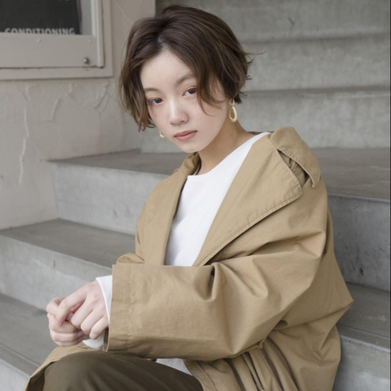アンニュイ 透明感 ショート ラフ ヘアスタイルや髪型の写真・画像   タカハシ アヤミ / trail by ROVER