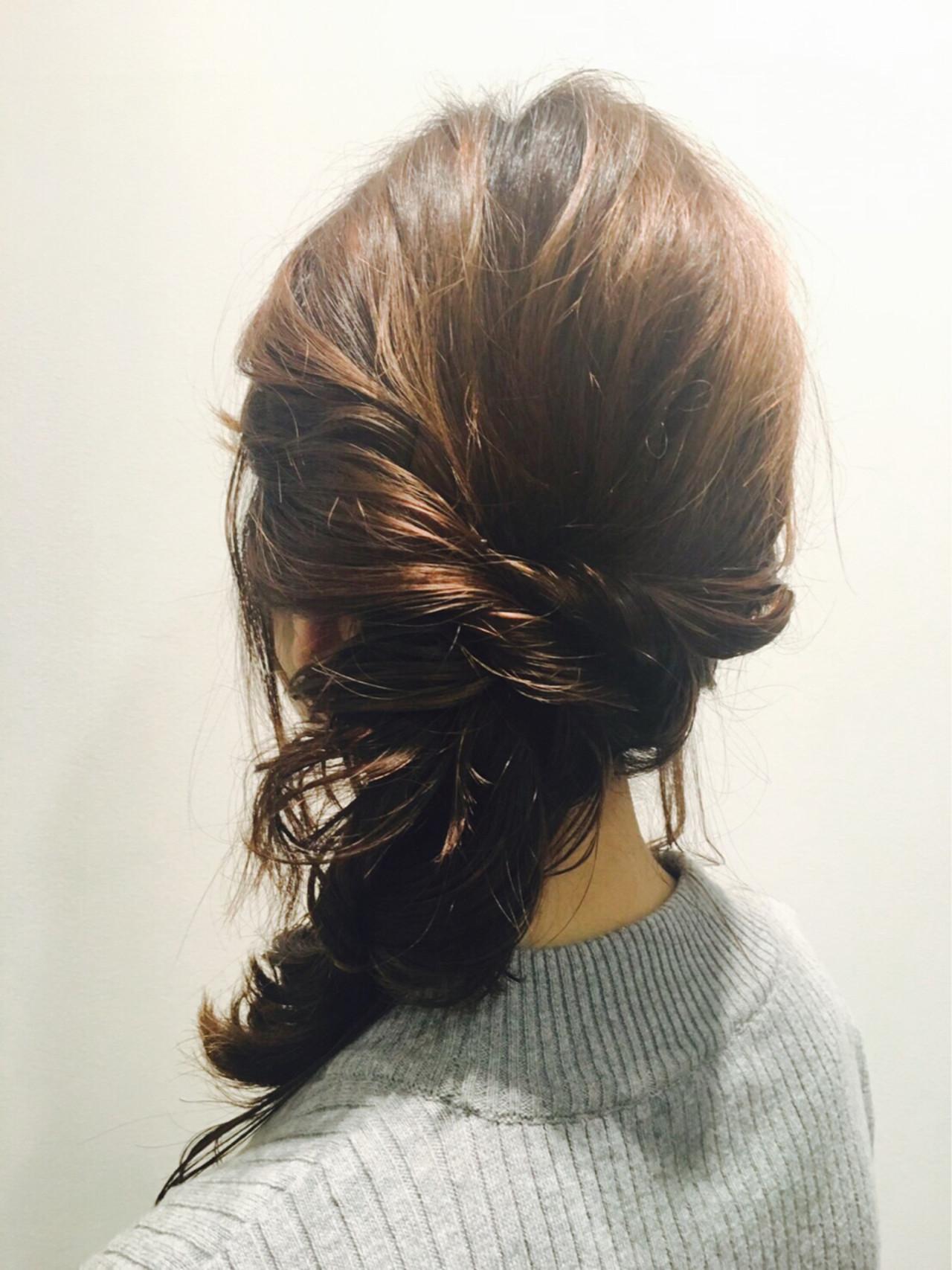 抜け感 大人かわいい 簡単ヘアアレンジ ヘアアレンジ ヘアスタイルや髪型の写真・画像