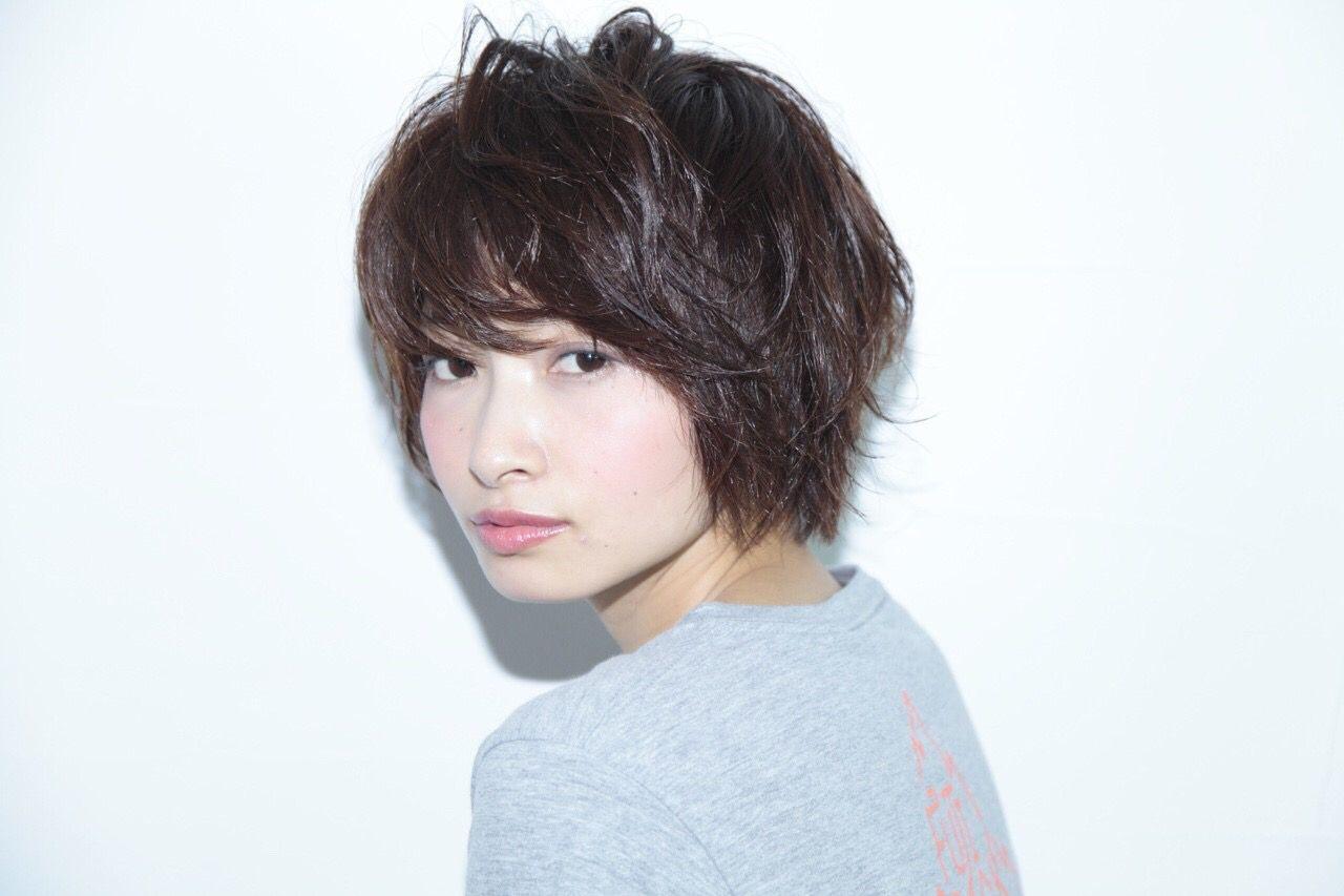 ショート パンク ストリート 暗髪 ヘアスタイルや髪型の写真・画像