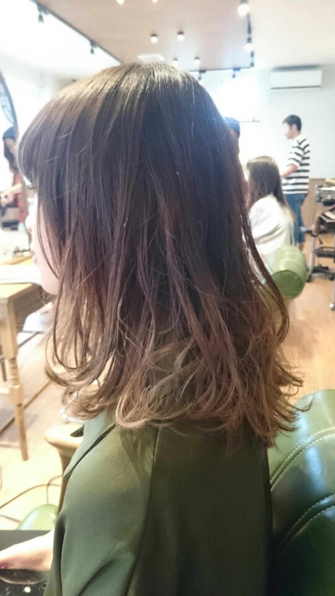 ハイライト グラデーションカラー 渋谷系 ガーリー ヘアスタイルや髪型の写真・画像