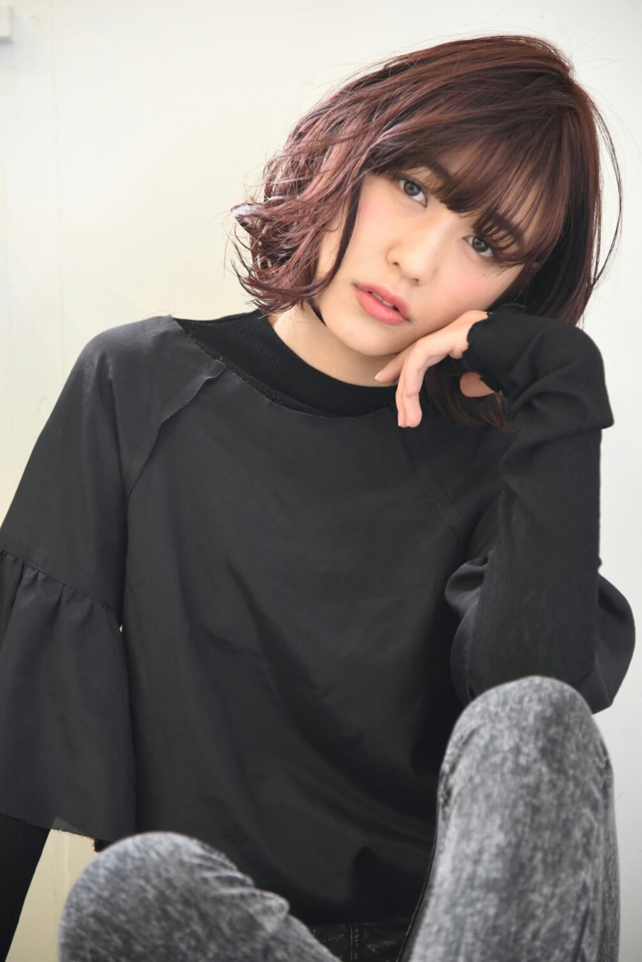 レッド 透明感 外国人風 ピンク ヘアスタイルや髪型の写真・画像 | イノウエ ユウキ【freelance】 / AKAMEE【アカミー】