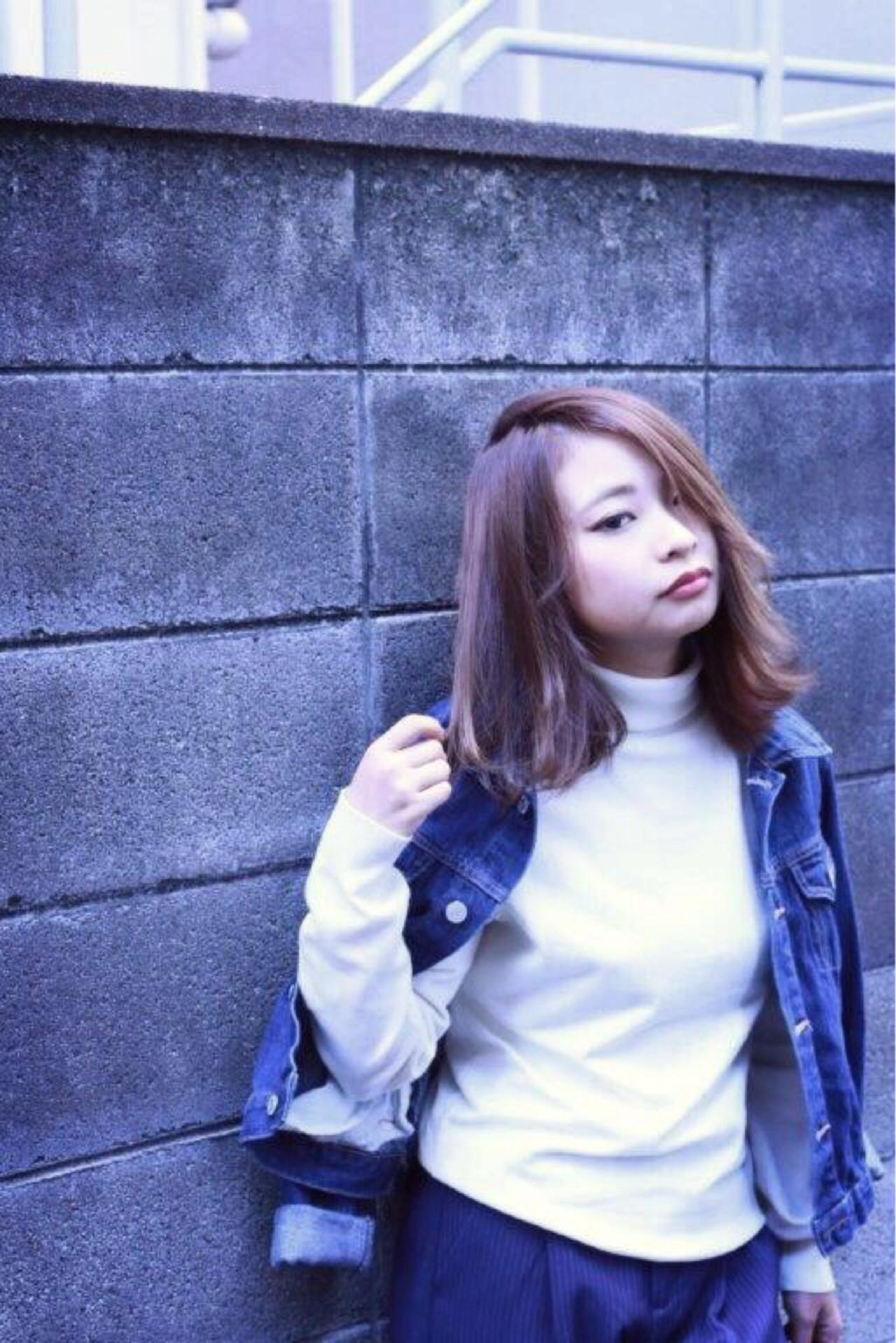 ミディアム ショート モード 簡単ヘアアレンジ ヘアスタイルや髪型の写真・画像