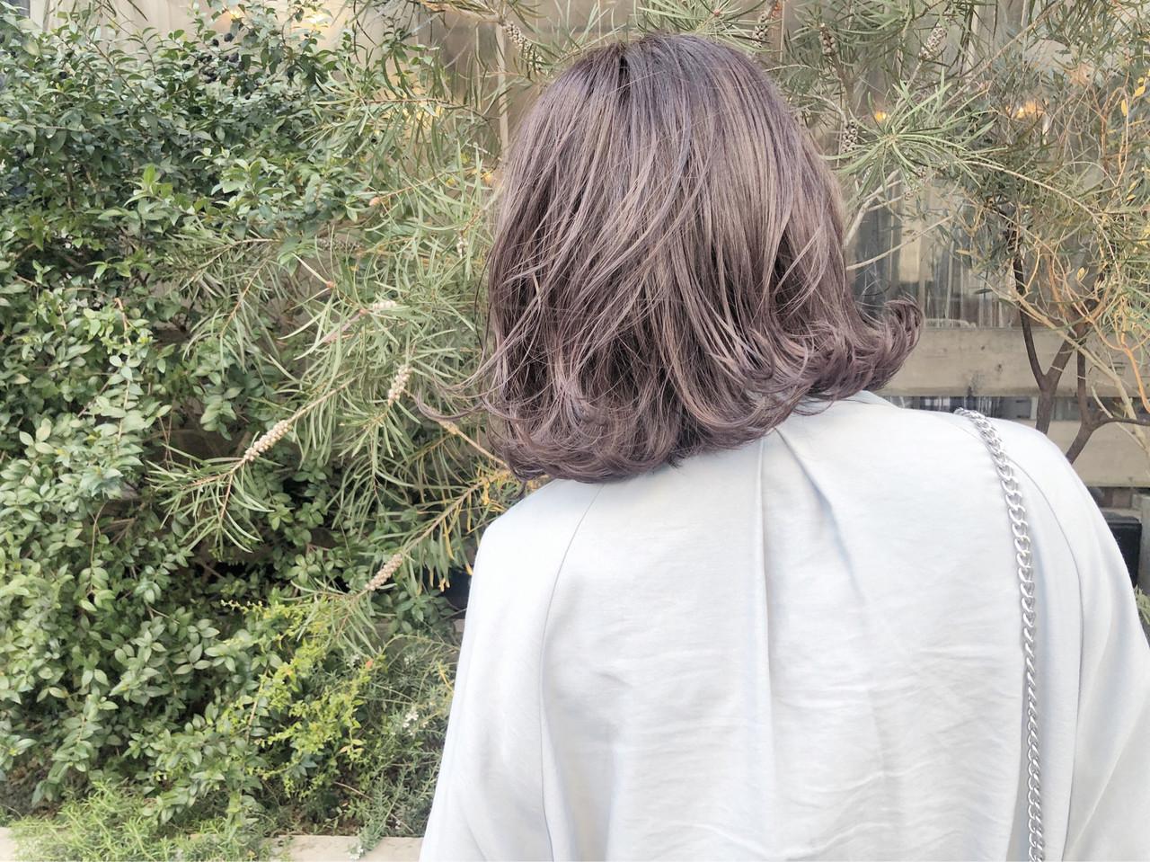 透明感カラー イルミナカラー アッシュ 質感カラー ヘアスタイルや髪型の写真・画像