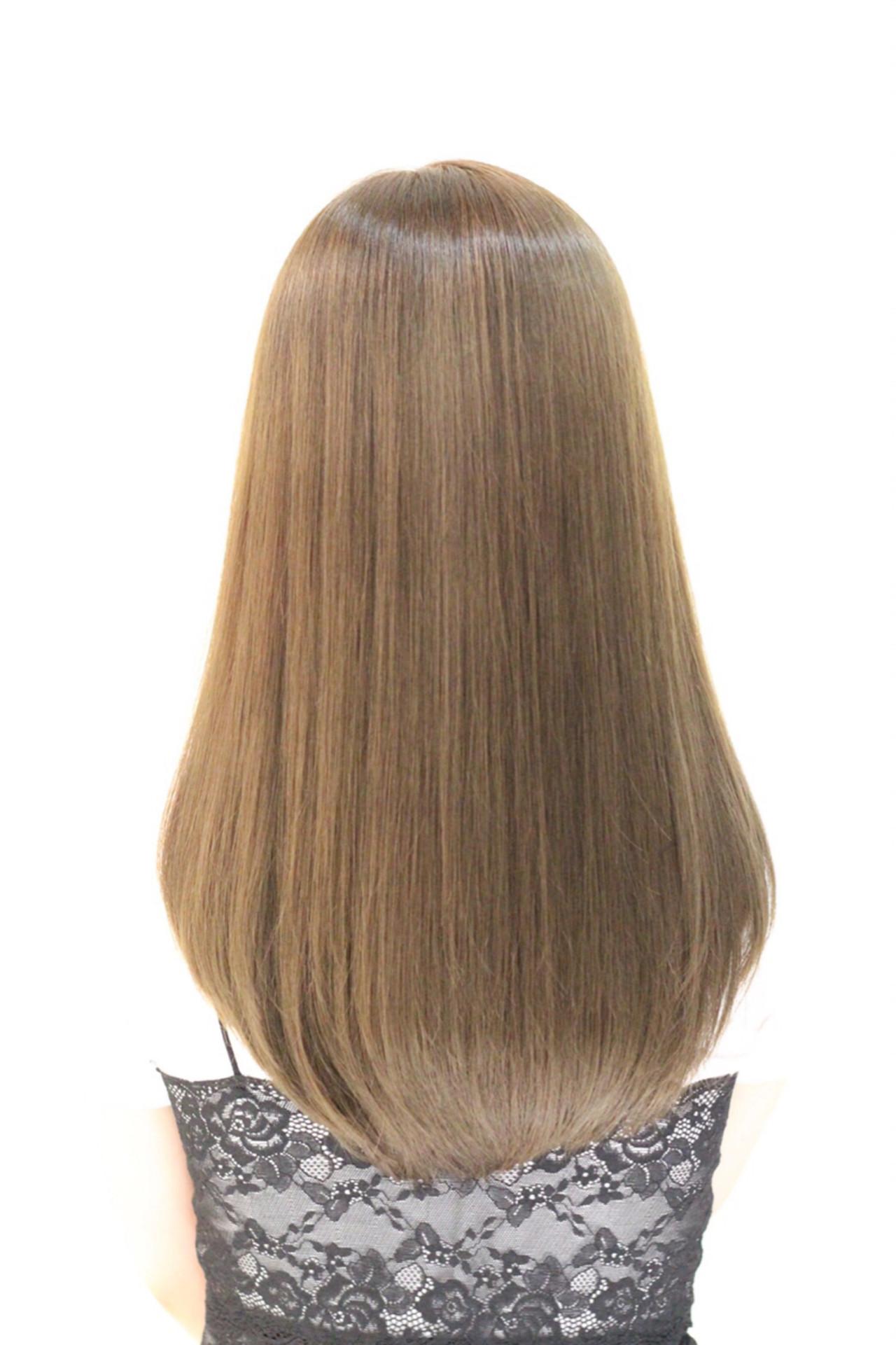 外国人風 ロング フェミニン ハイライト ヘアスタイルや髪型の写真・画像