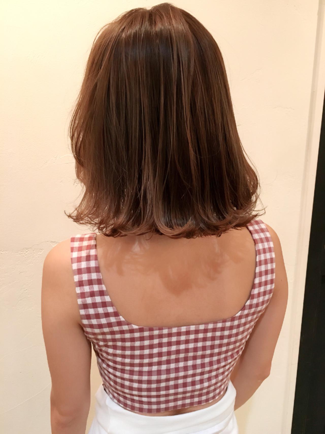 ハイライト 外国人風 ボブ ガーリー ヘアスタイルや髪型の写真・画像