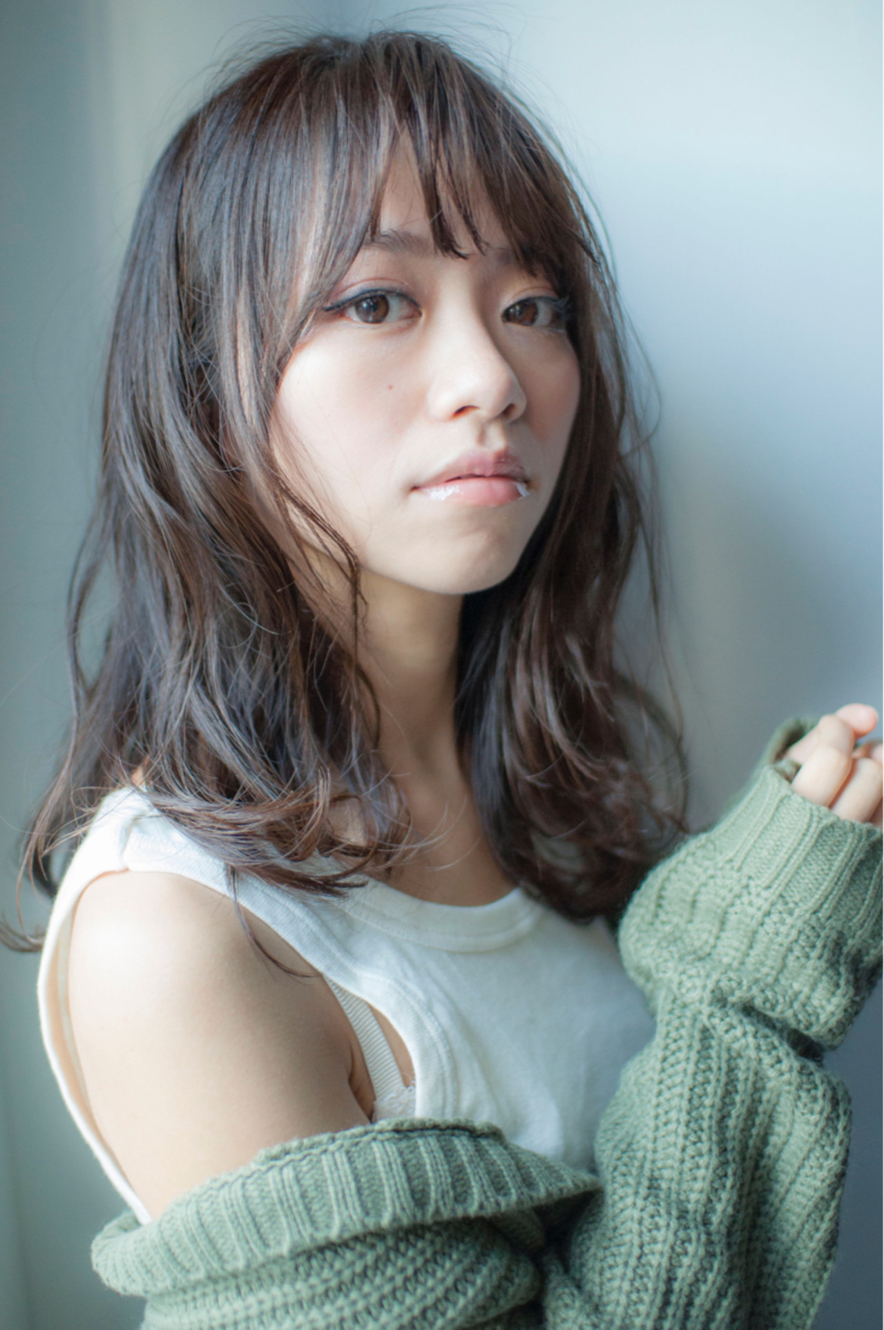 ゆるふわ ミディアム ストリート 前髪あり ヘアスタイルや髪型の写真・画像 | 力石サトシ HOMIE Tokyo /   HOMIE TOKYO