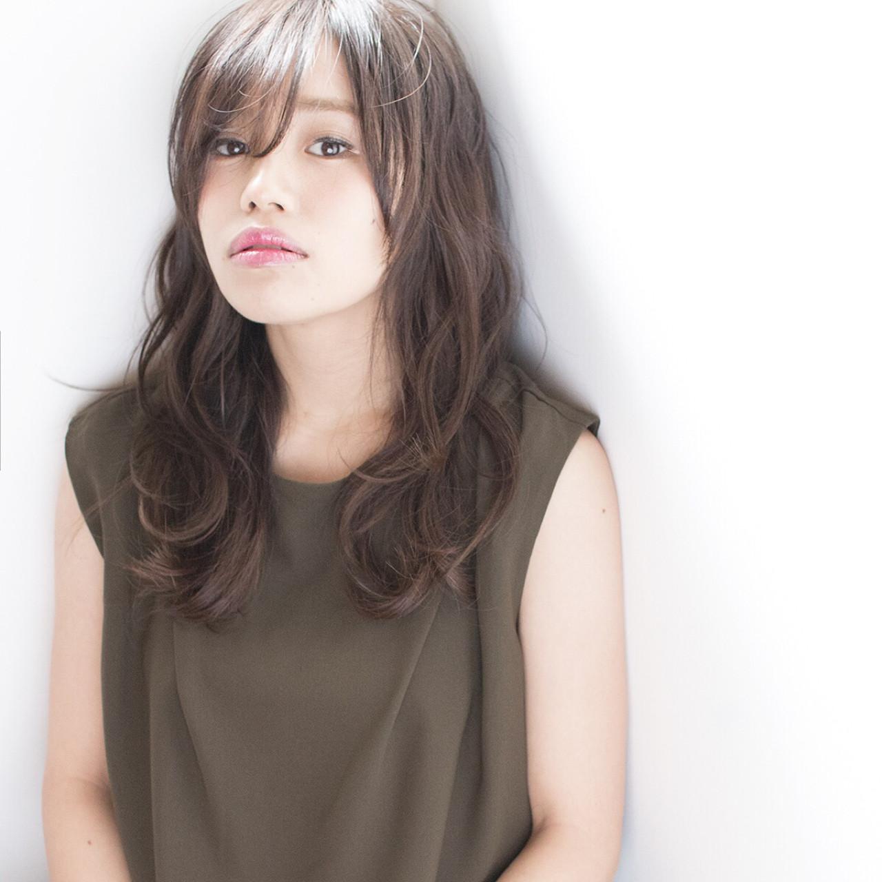 透明感 外国人風 ゆるふわ セミロング ヘアスタイルや髪型の写真・画像 | 吉岡 久美子 / Ravo HAIR / Ravo HAIR
