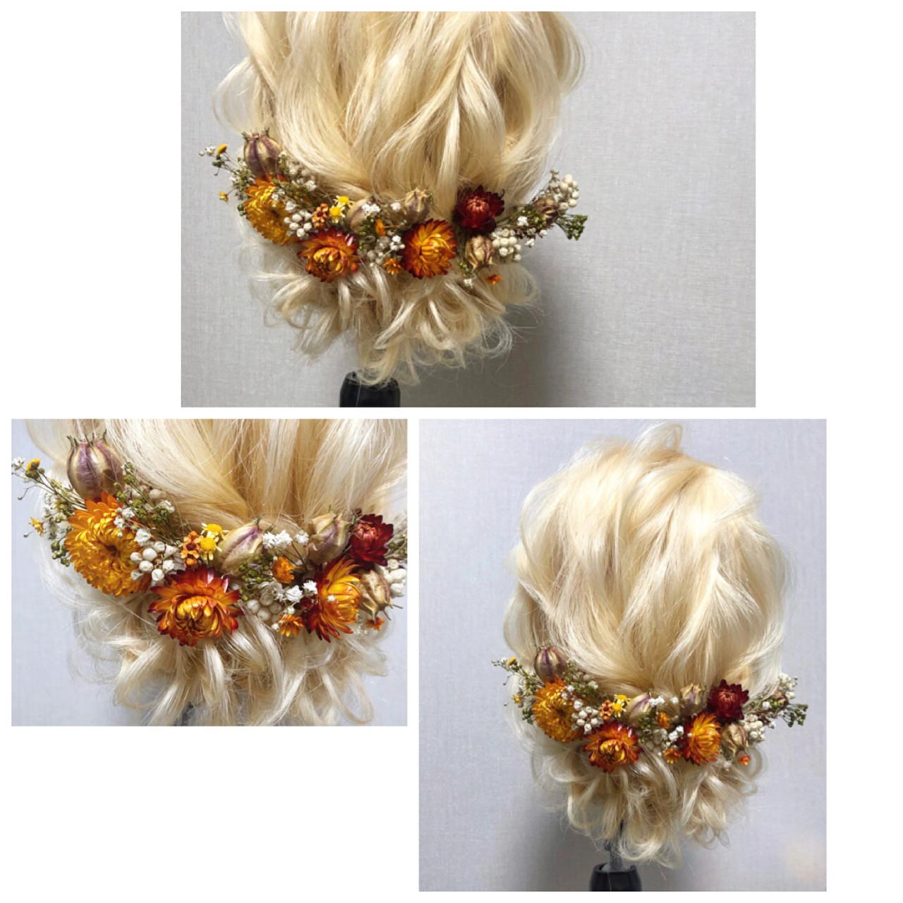 ヘアアレンジ 結婚式 ロング 簡単ヘアアレンジ ヘアスタイルや髪型の写真・画像 | Amico/佐藤 友理 / amico